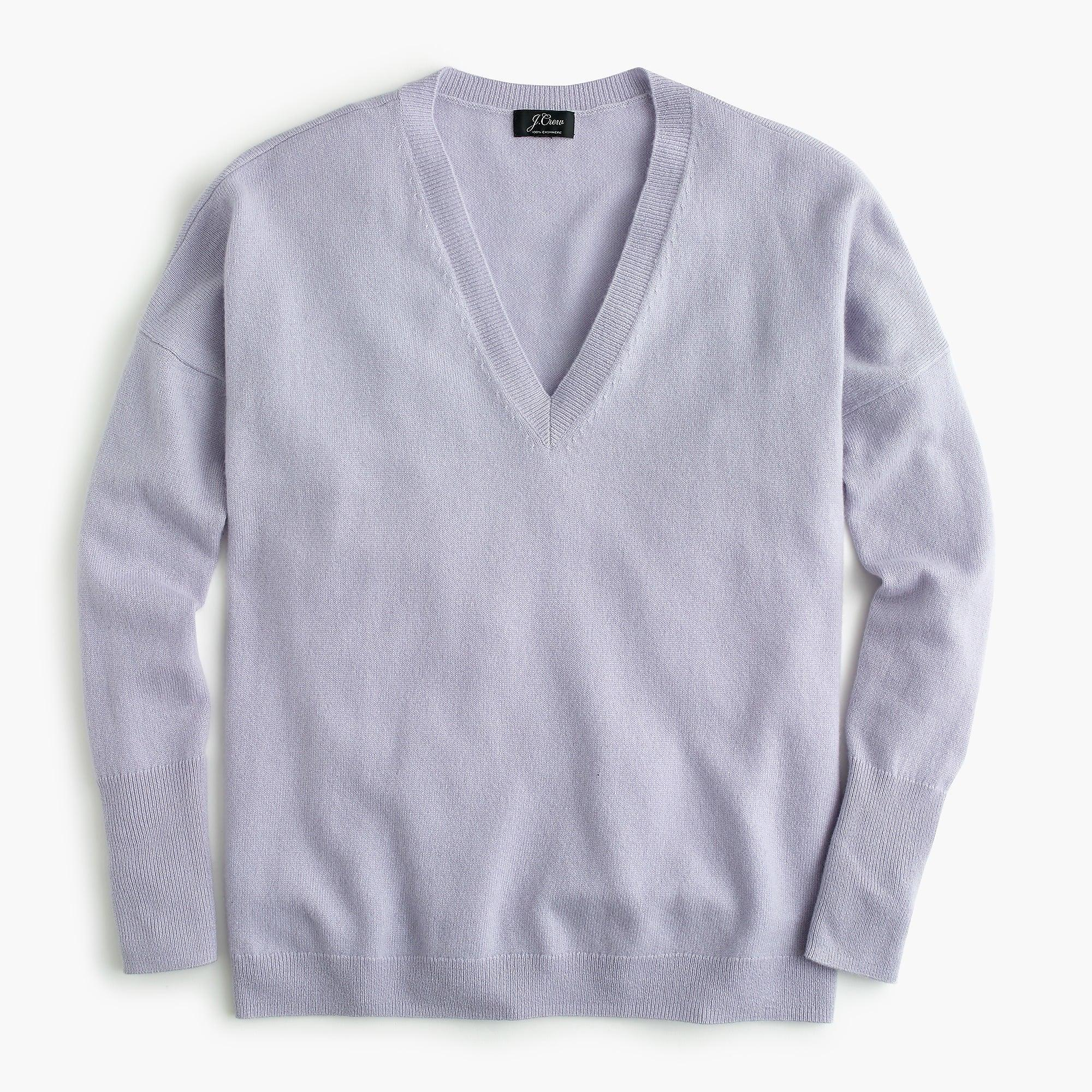 39ae4d715e6a Lyst - J.Crew V-neck Boyfriend Sweater In Everyday Cashmere