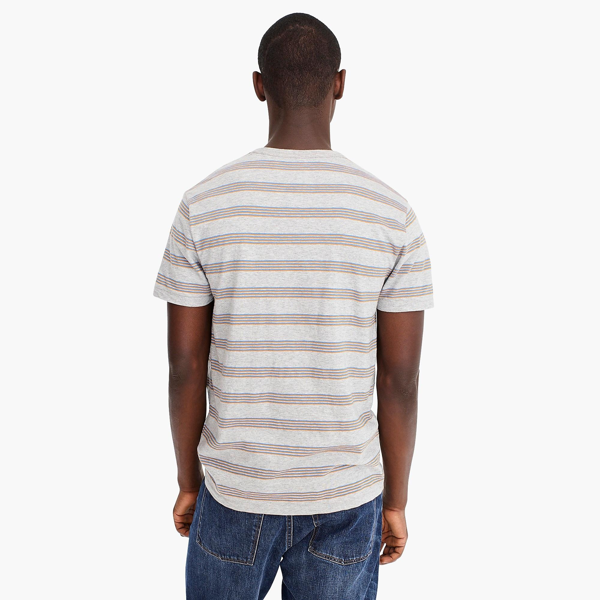 3382ab9e2853 Lyst - J.Crew Slub Jersey Pocket T-shirt In Quad Stripe in Gray for Men