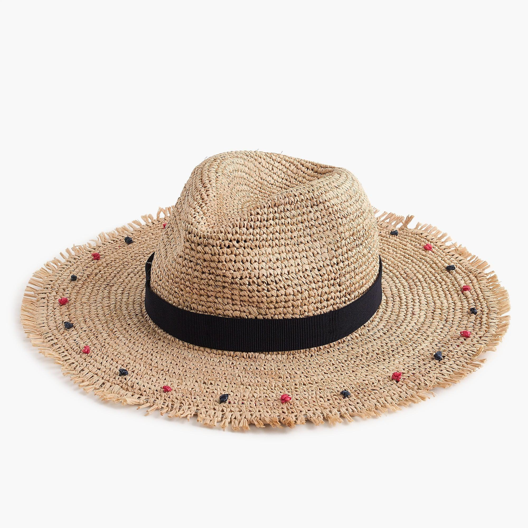 4c5c95046afc5 J.Crew - Blue Embellished Packable Straw Hat - Lyst. View fullscreen