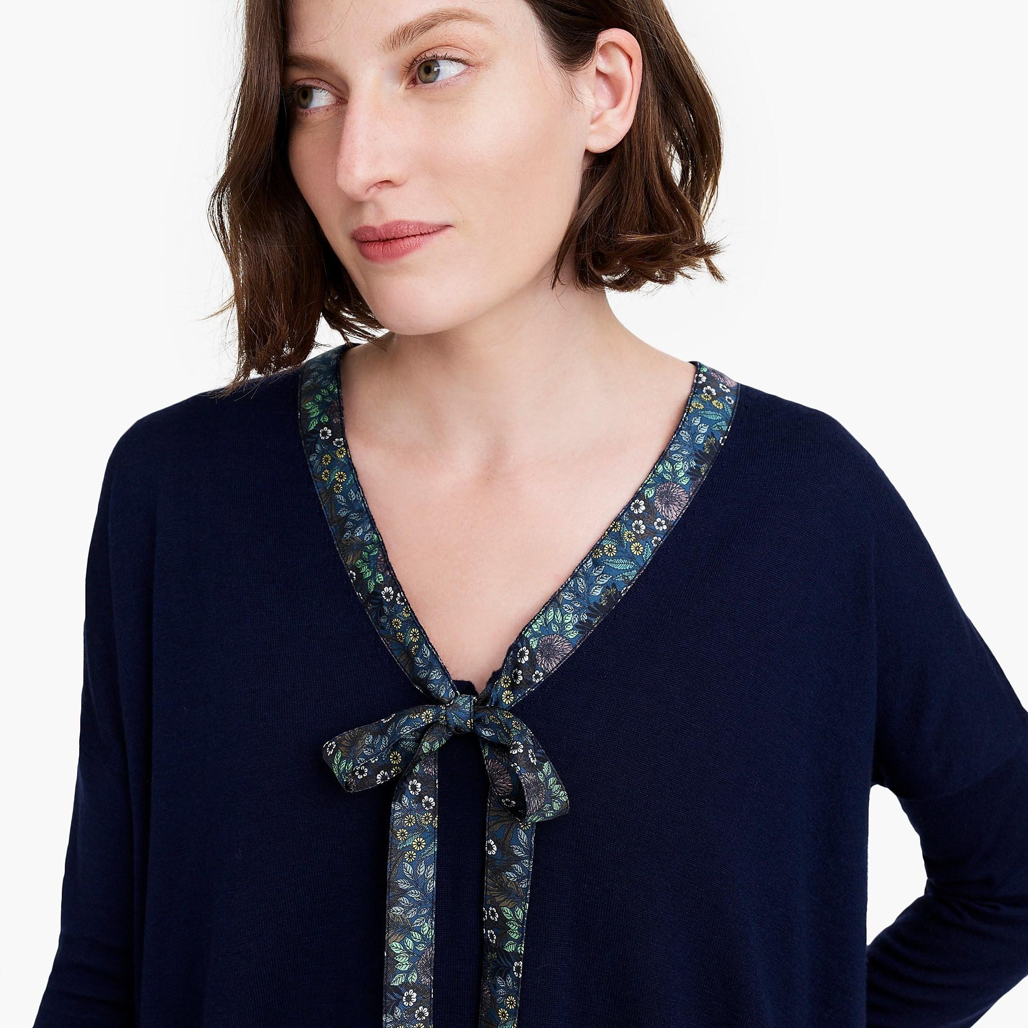 8bc1800f942 J.Crew - Blue X Abigail Borg Tie-neck Sweater - Lyst. View fullscreen