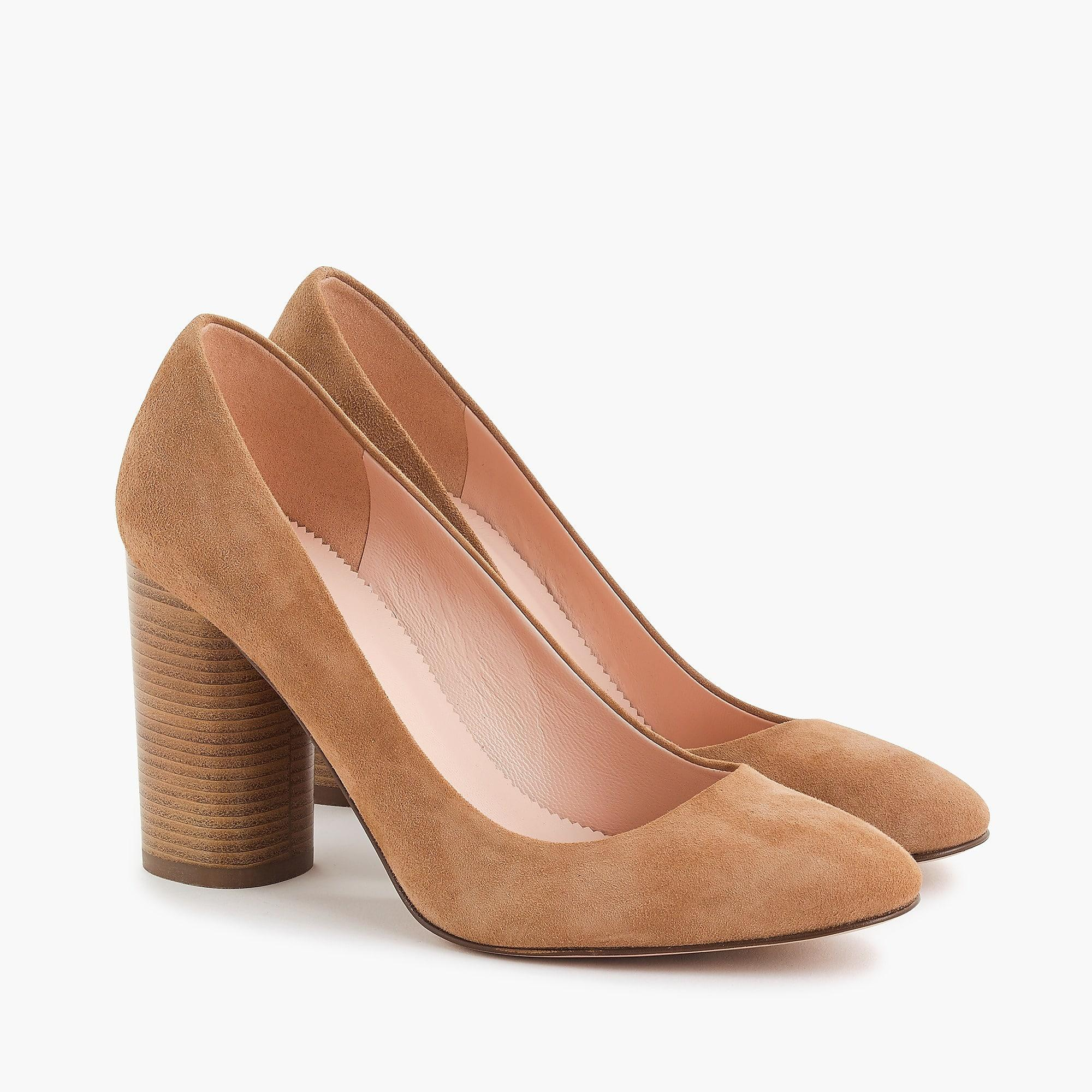baad274e691 Lyst - J.Crew Stacked-heel Pumps In Suede in Brown