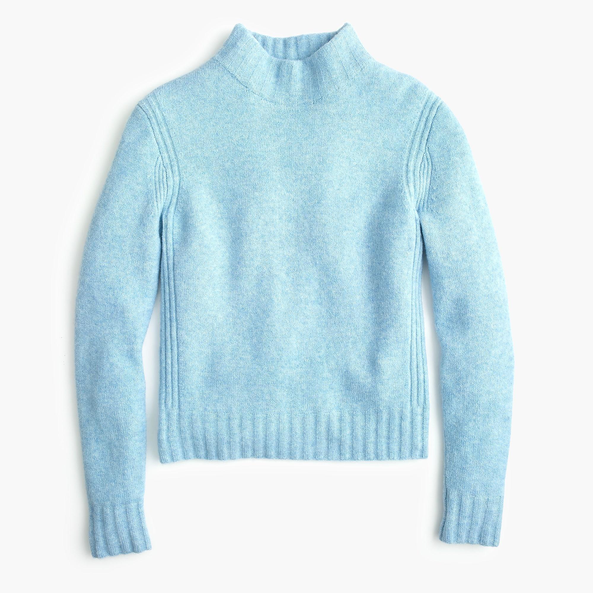 693f6512ddf J.Crew Mockneck Sweater In Supersoft Yarn in Blue - Lyst