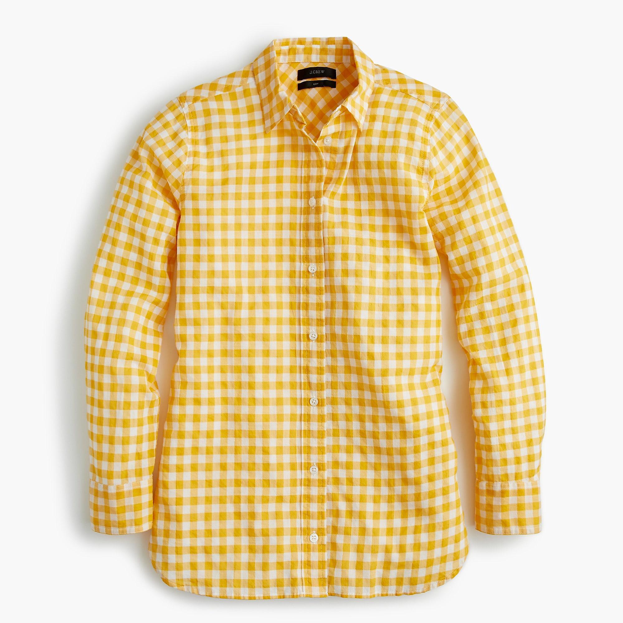 121b324675d7e J.Crew Petite Classic-fit Boy Shirt In Crinkle Gingham for Men - Lyst