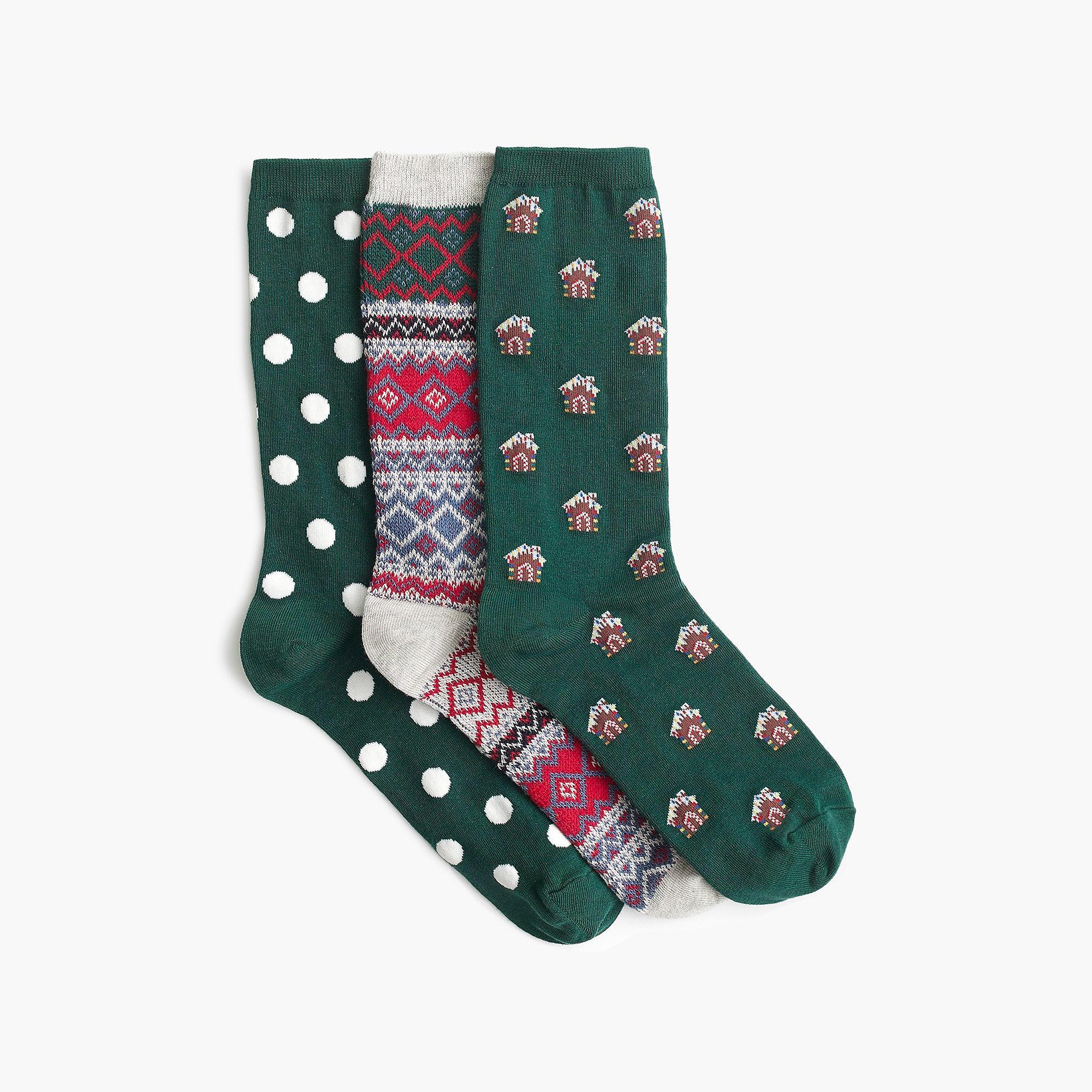 b1e14f4f7c86c J.Crew Trouser Socks Three-pack In Gingerbread in Green - Lyst