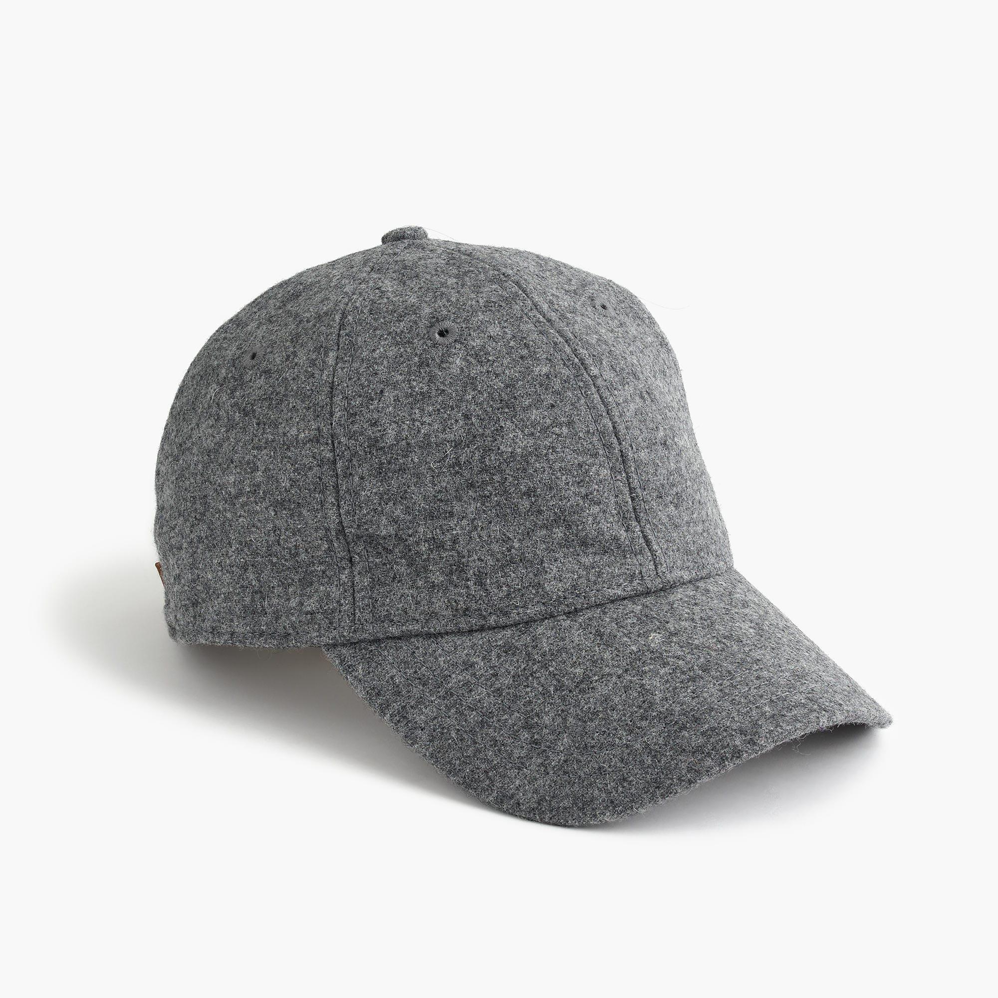 3a9441ce30e Lyst - J.Crew Grey Wool Ball Cap in Gray for Men