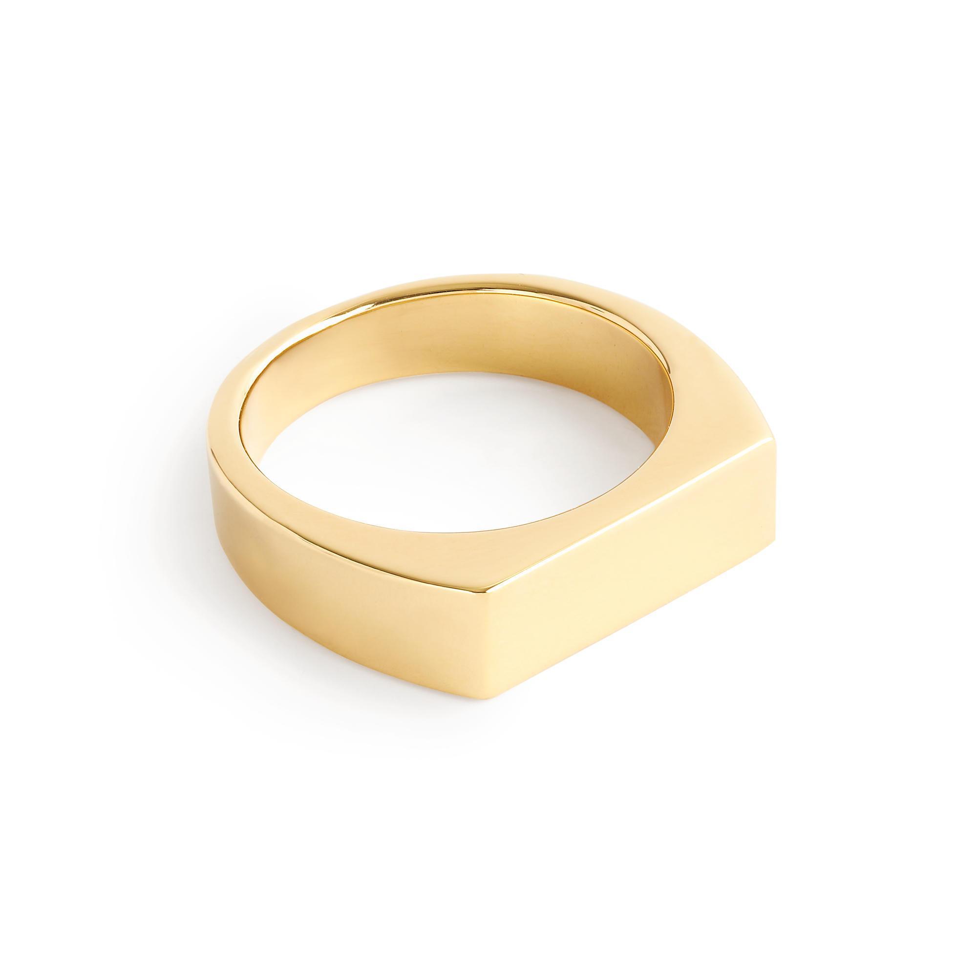 J Crew Women S Gold Rectangle Signet Ring