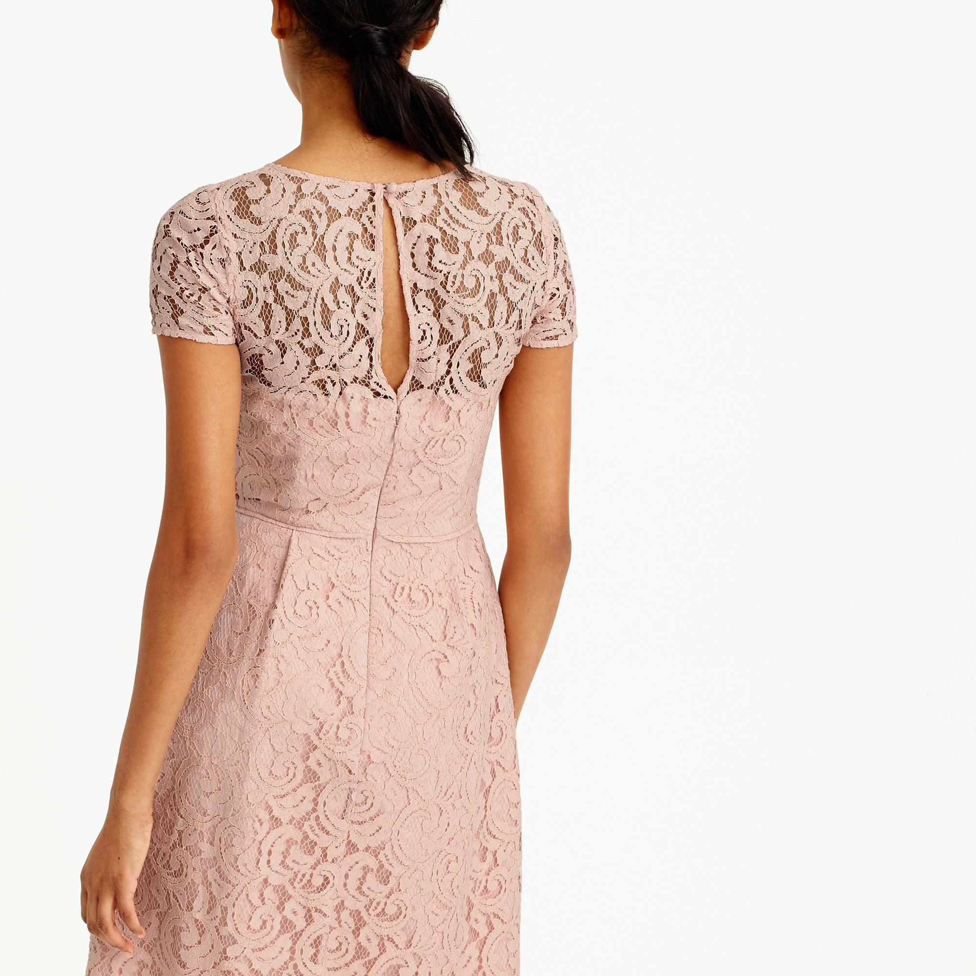 J.Crew Alisa Dress In Leavers Lace In Pink