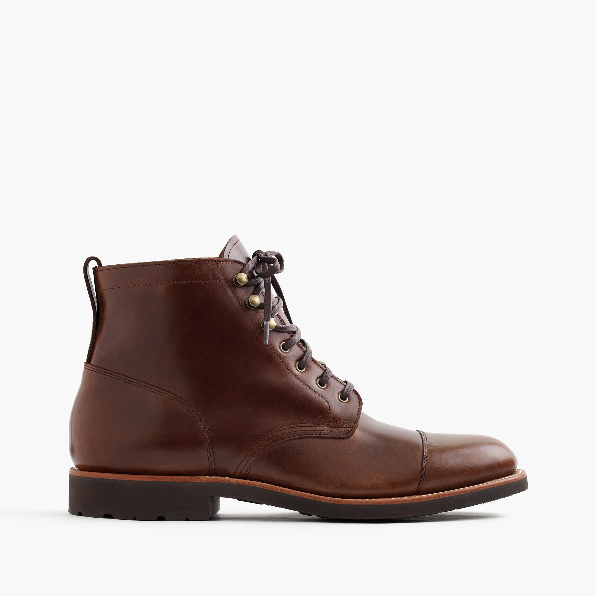 j crew kenton leather cap toe boots in multicolor for