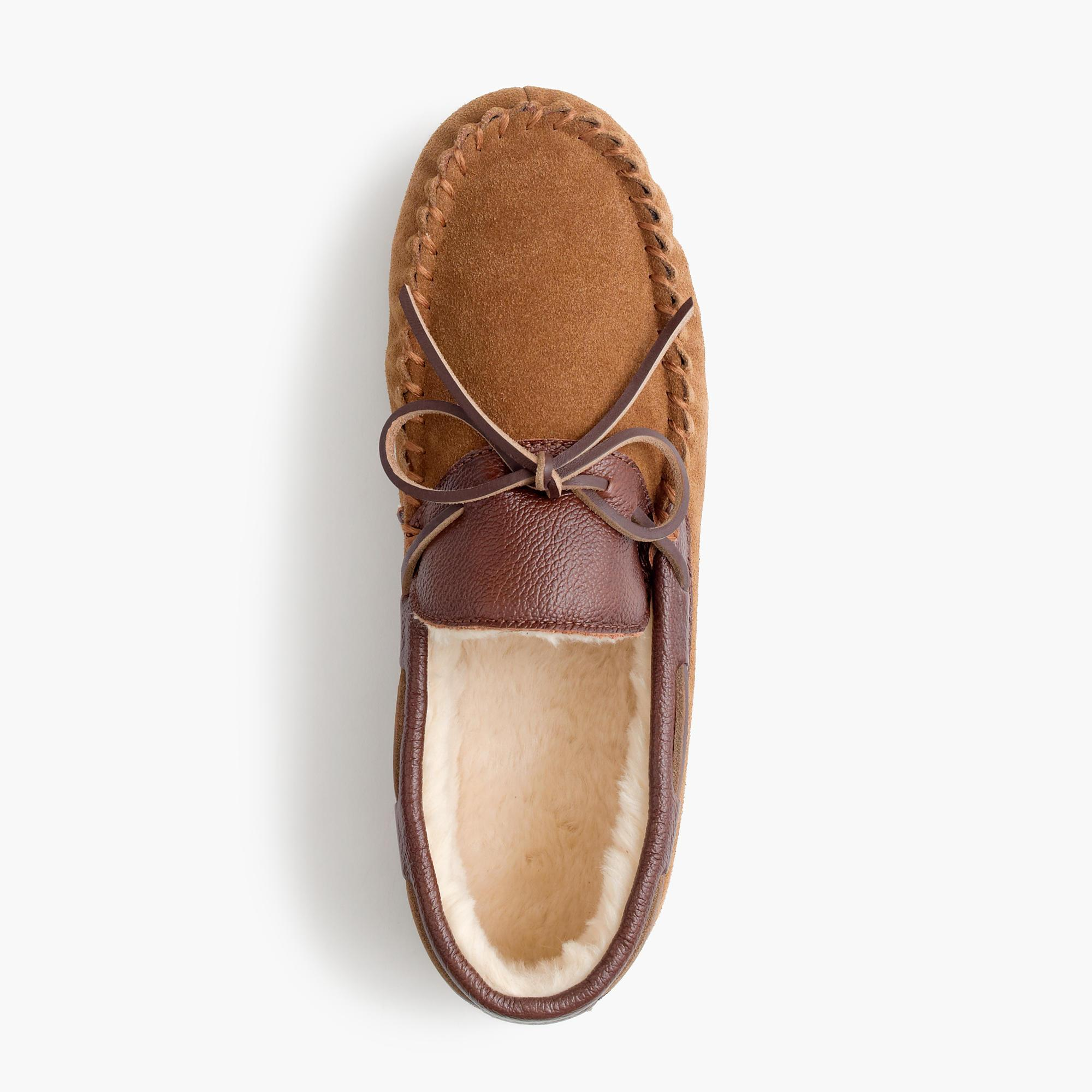 Suede and leather slippers for men lyst for J crew bedroom slippers