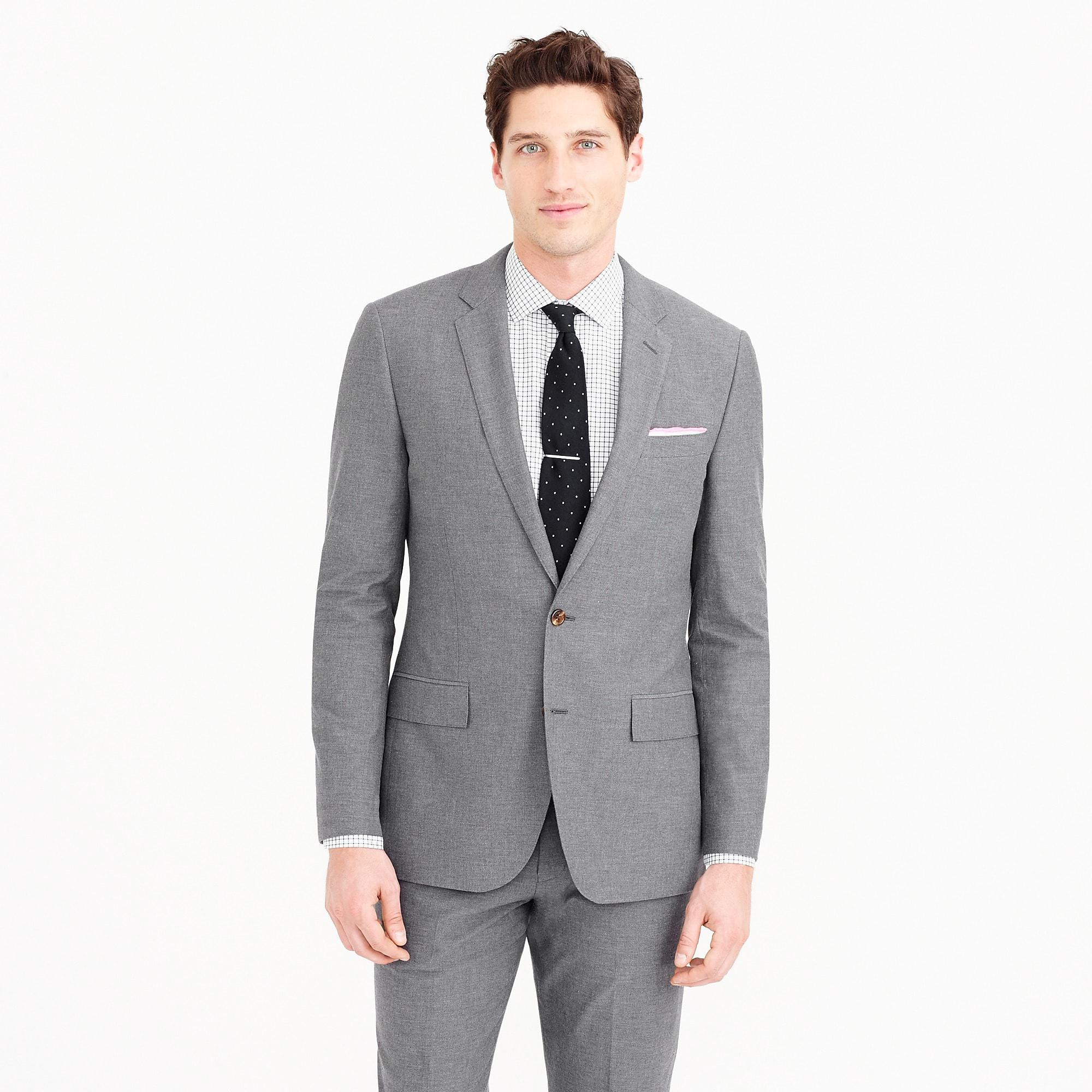 1ddcaed6deb1 J.Crew Ludlow Suit Jacket In Italian Cotton Oxford Cloth in Gray for ...