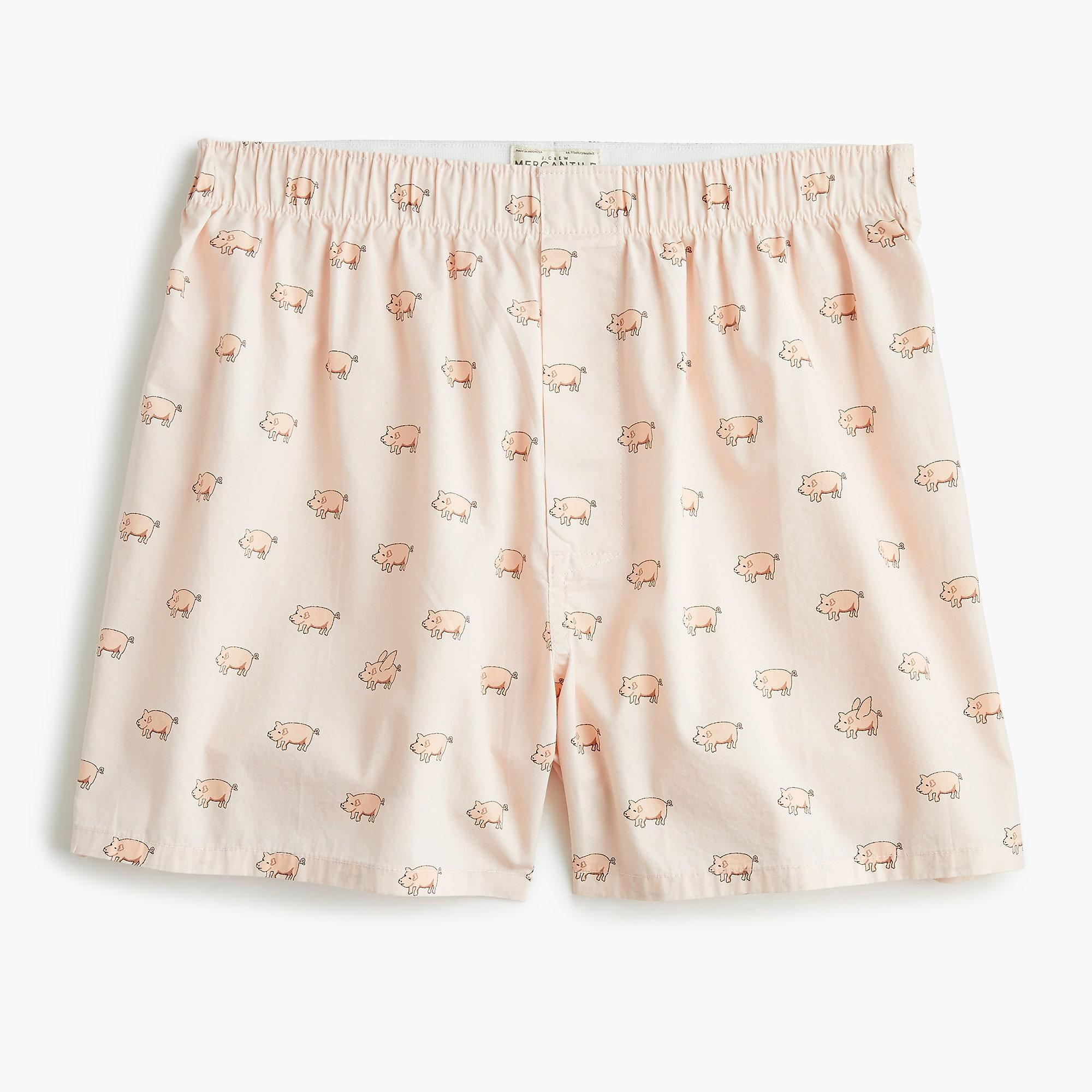 92d73efb7b15 Lyst - J.Crew Mercantile Flying Pigs Boxers in Pink for Men