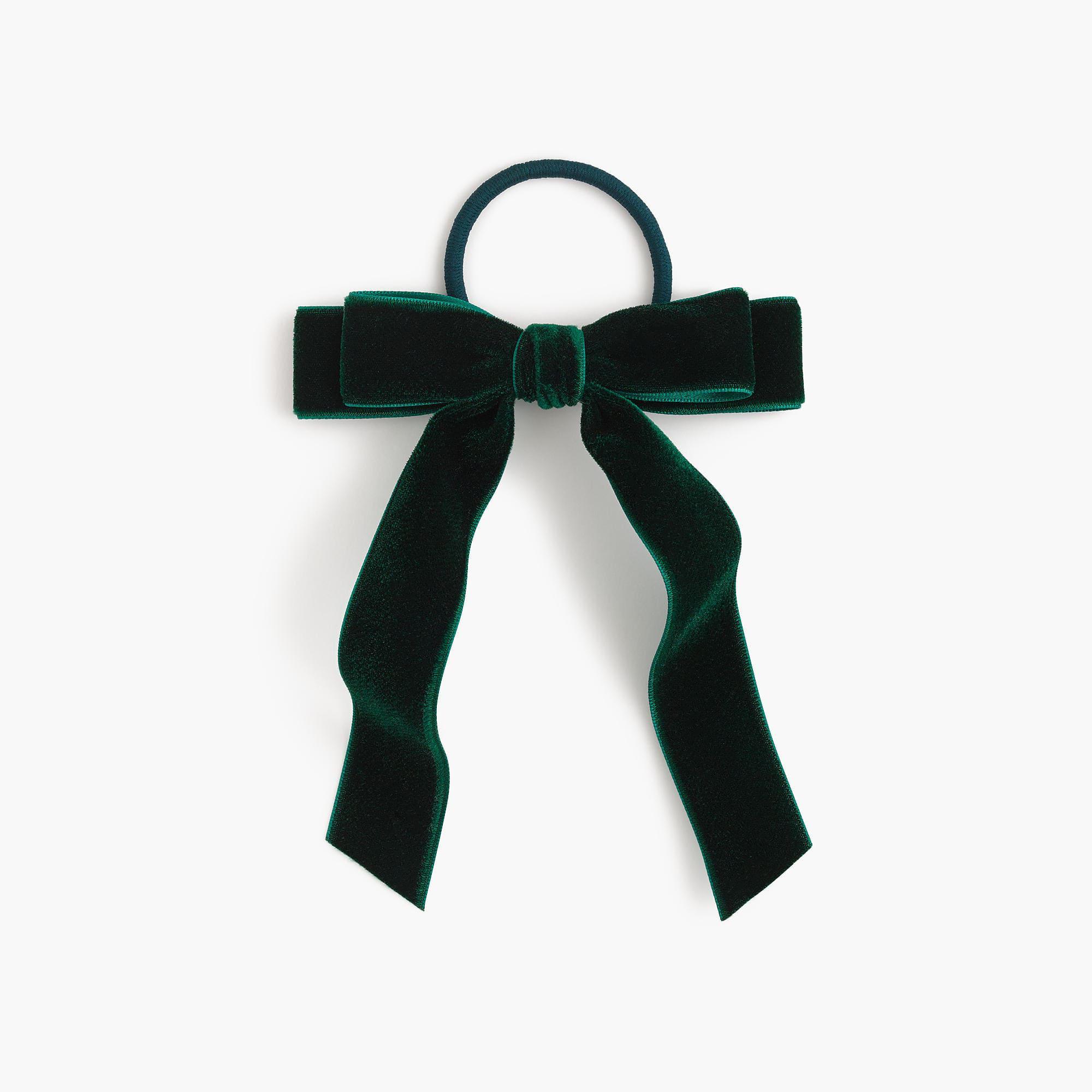 J.Crew Velvet Hair Tie in Green - Lyst 1e747a65eb7