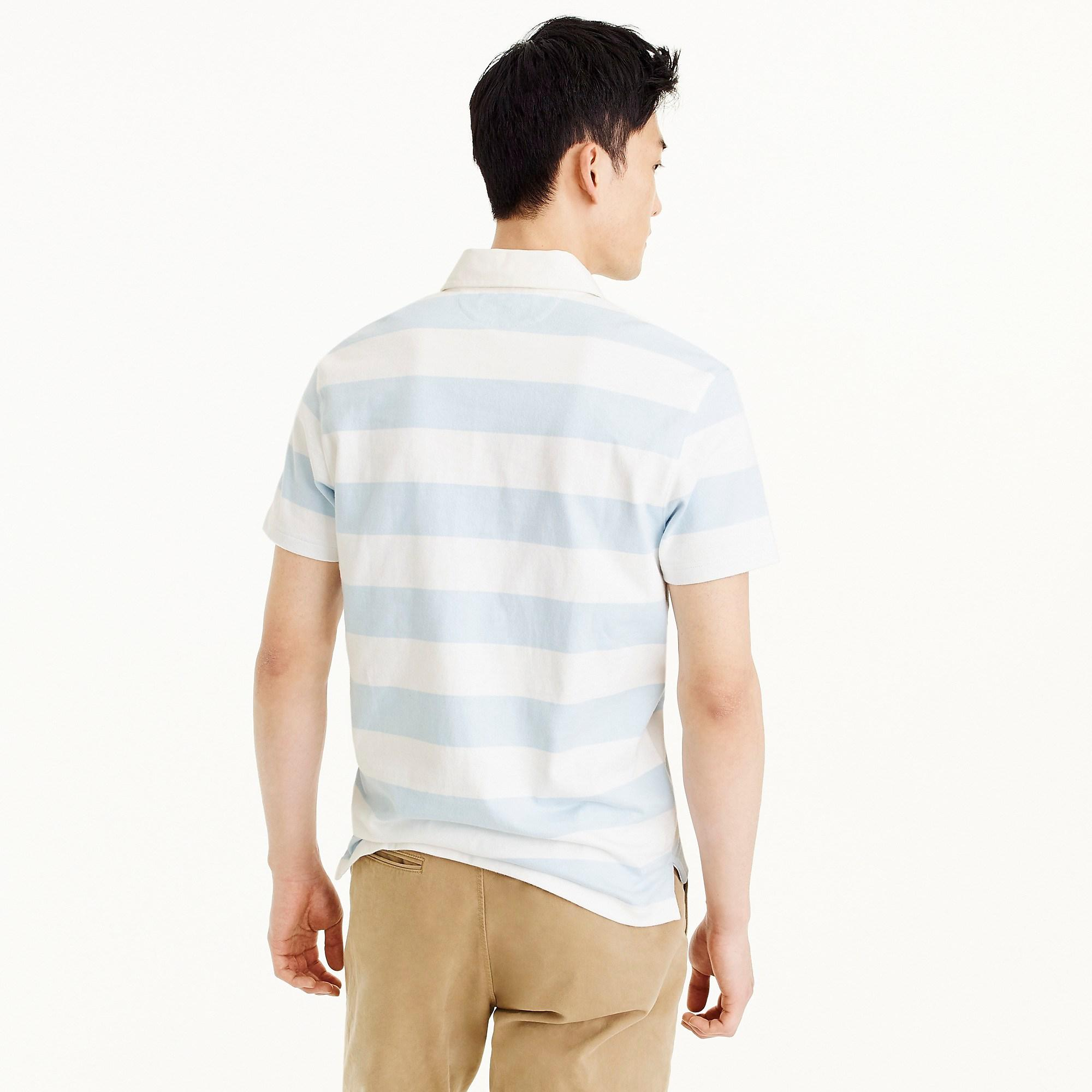 511c0630760 J.Crew Tall Short-sleeve 1984 Rugby Shirt in Blue for Men - Lyst