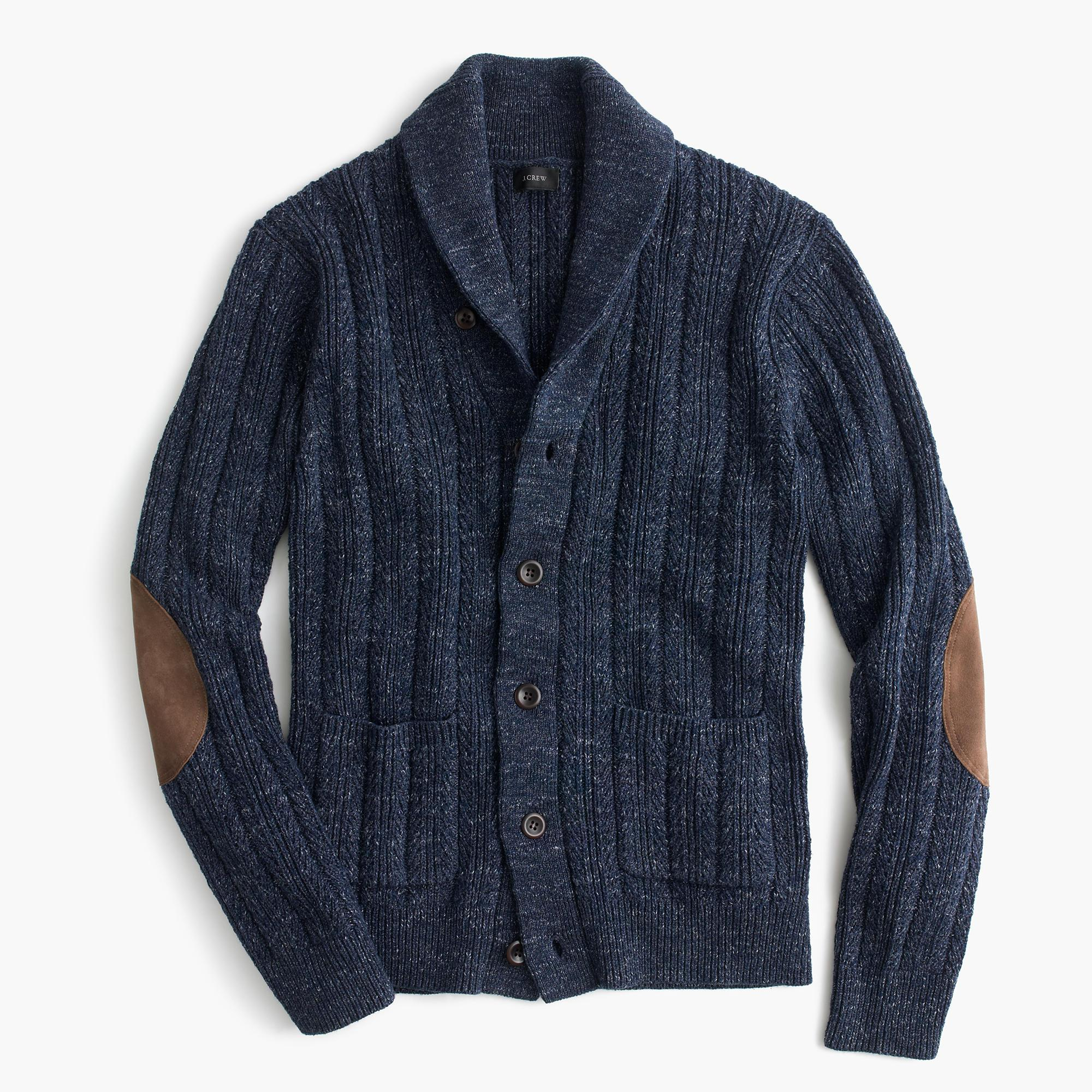J.crew Cotton Mariner Shawl-collar Cardigan Sweater in ...