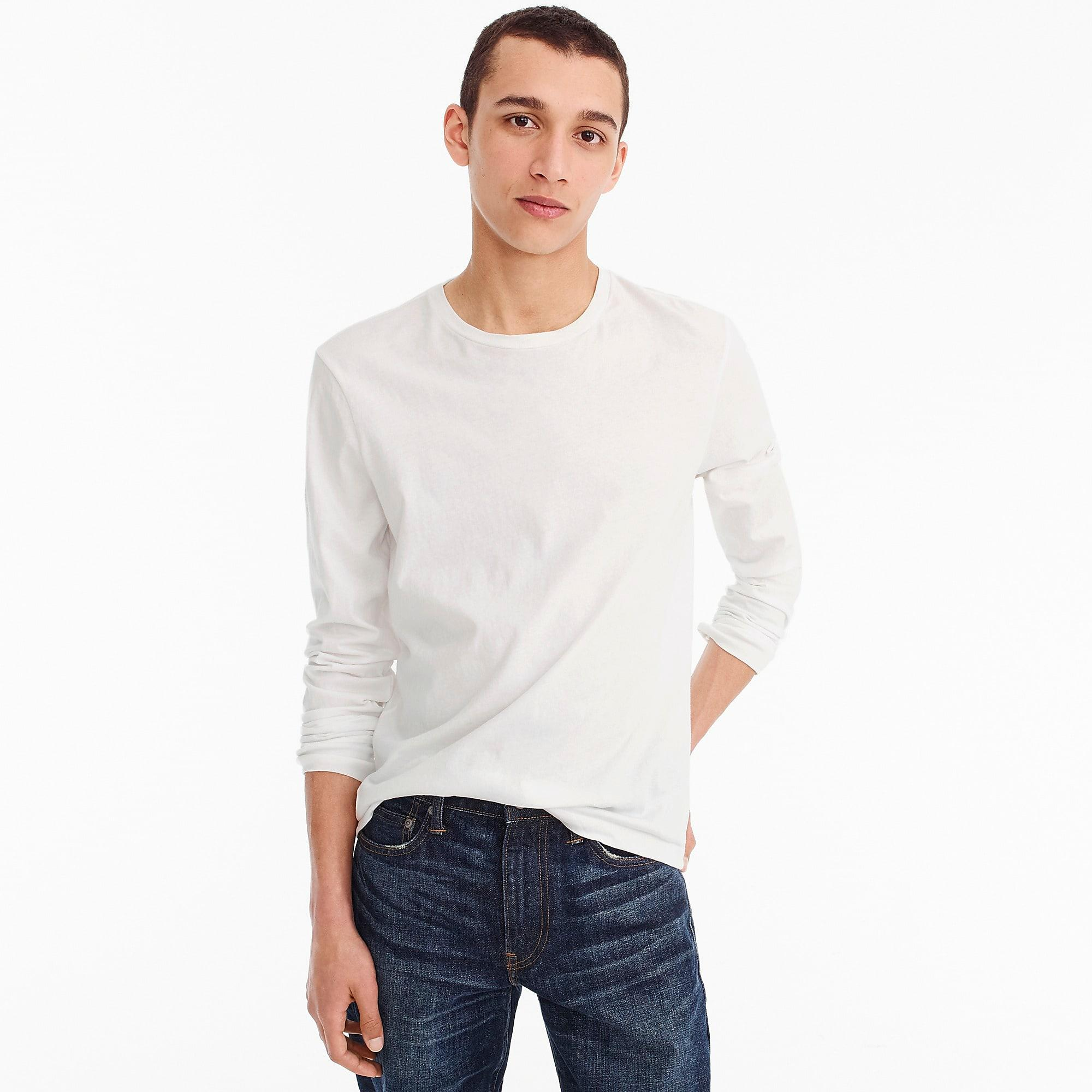 2aff4f87 J.Crew Slim Mercantile Broken-in Long-sleeve T-shirt in White for ...