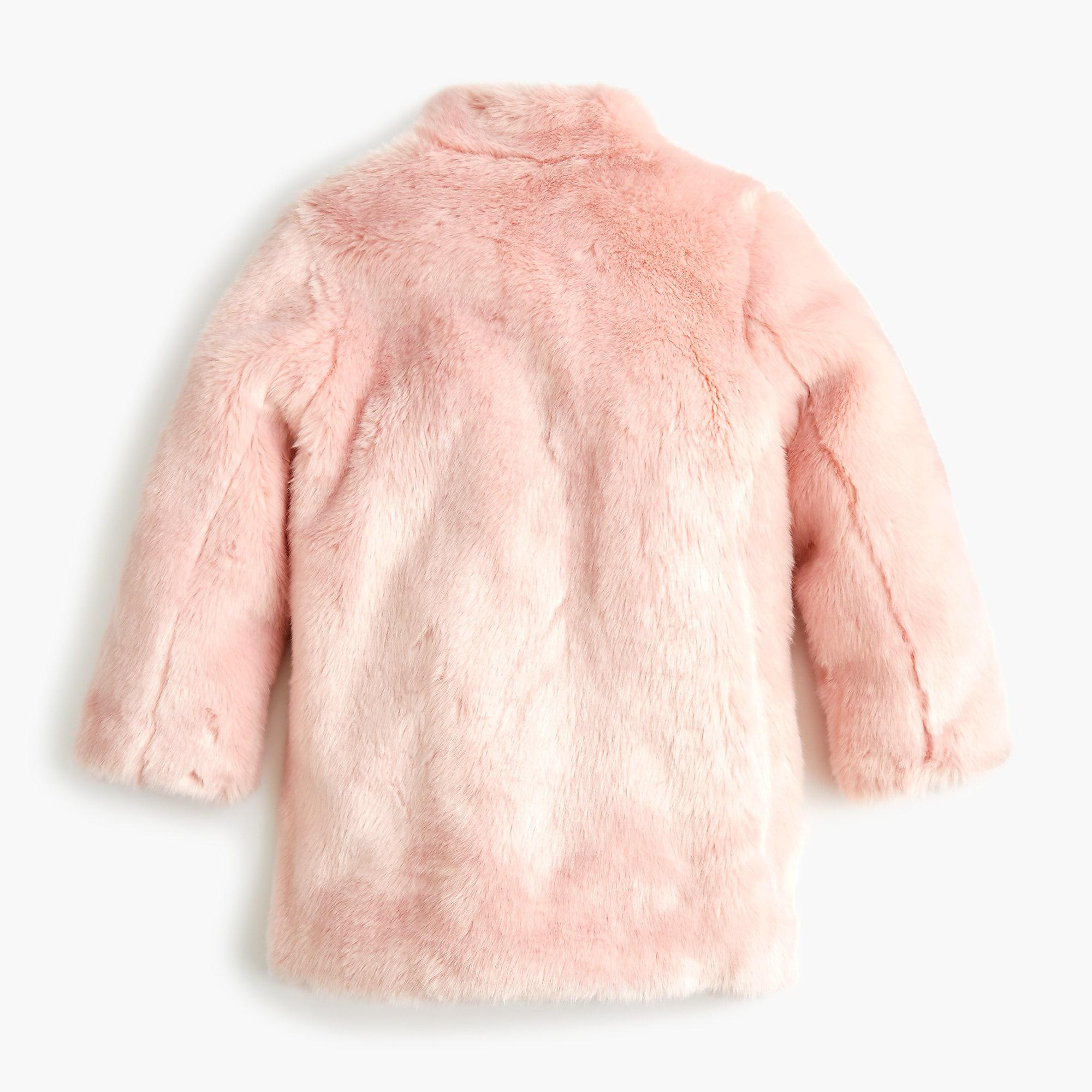 9d4704cdc57e Lyst - J.Crew Girls  Faux-fur Coat in Pink