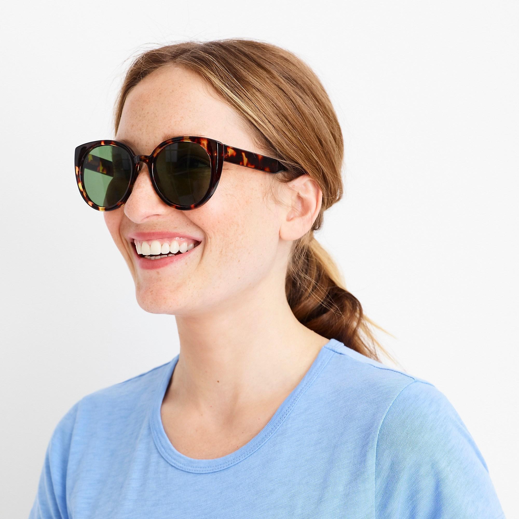 89e5141513 J.Crew Oversized Sunglasses in Green - Lyst