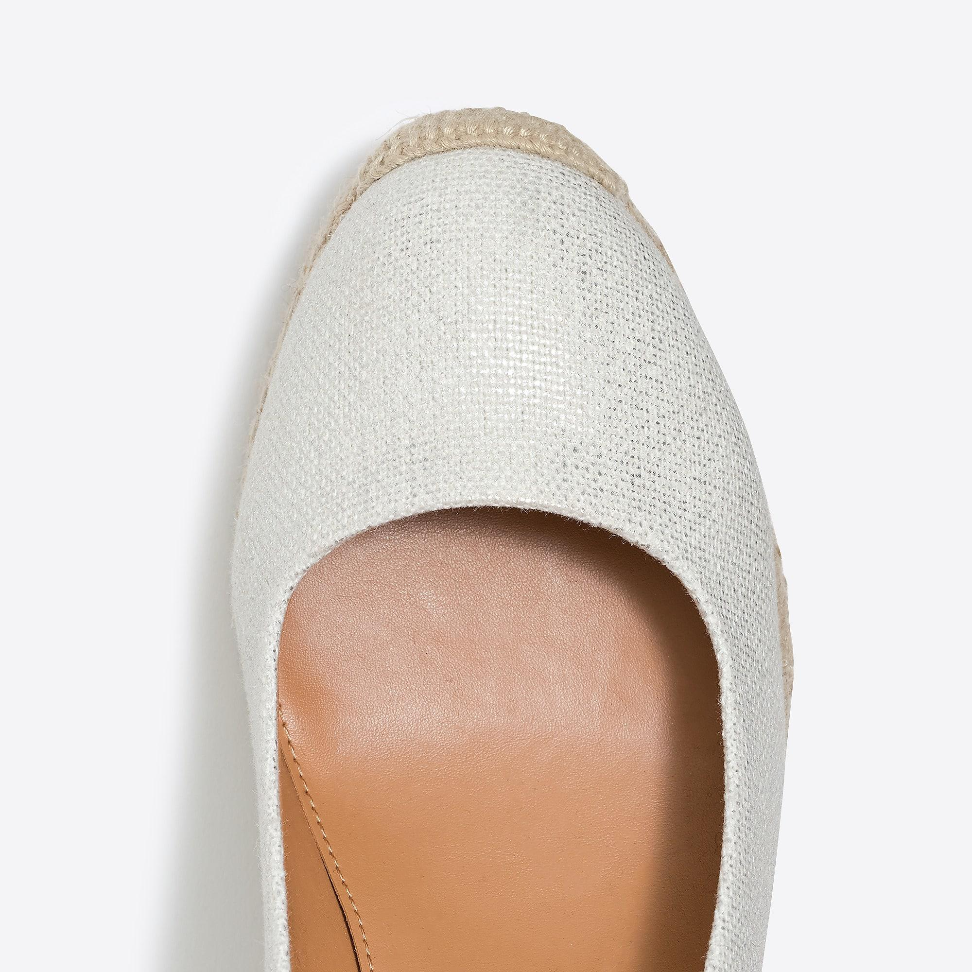 da36ebec917 J.Crew. Women s Metallic Canvas Espadrille Wedges