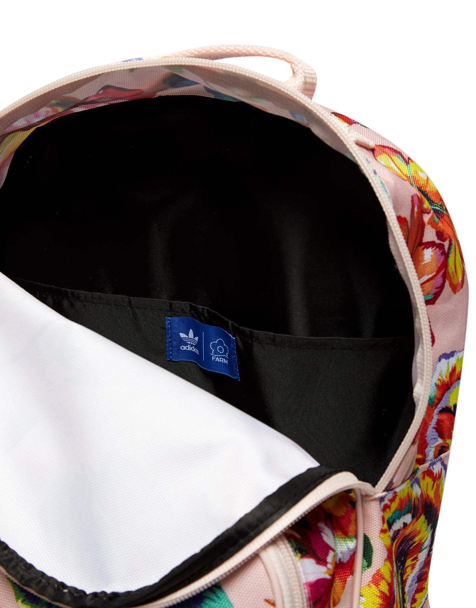 fa836c7f22 adidas Originals Farm Floralita Backpack in White - Lyst