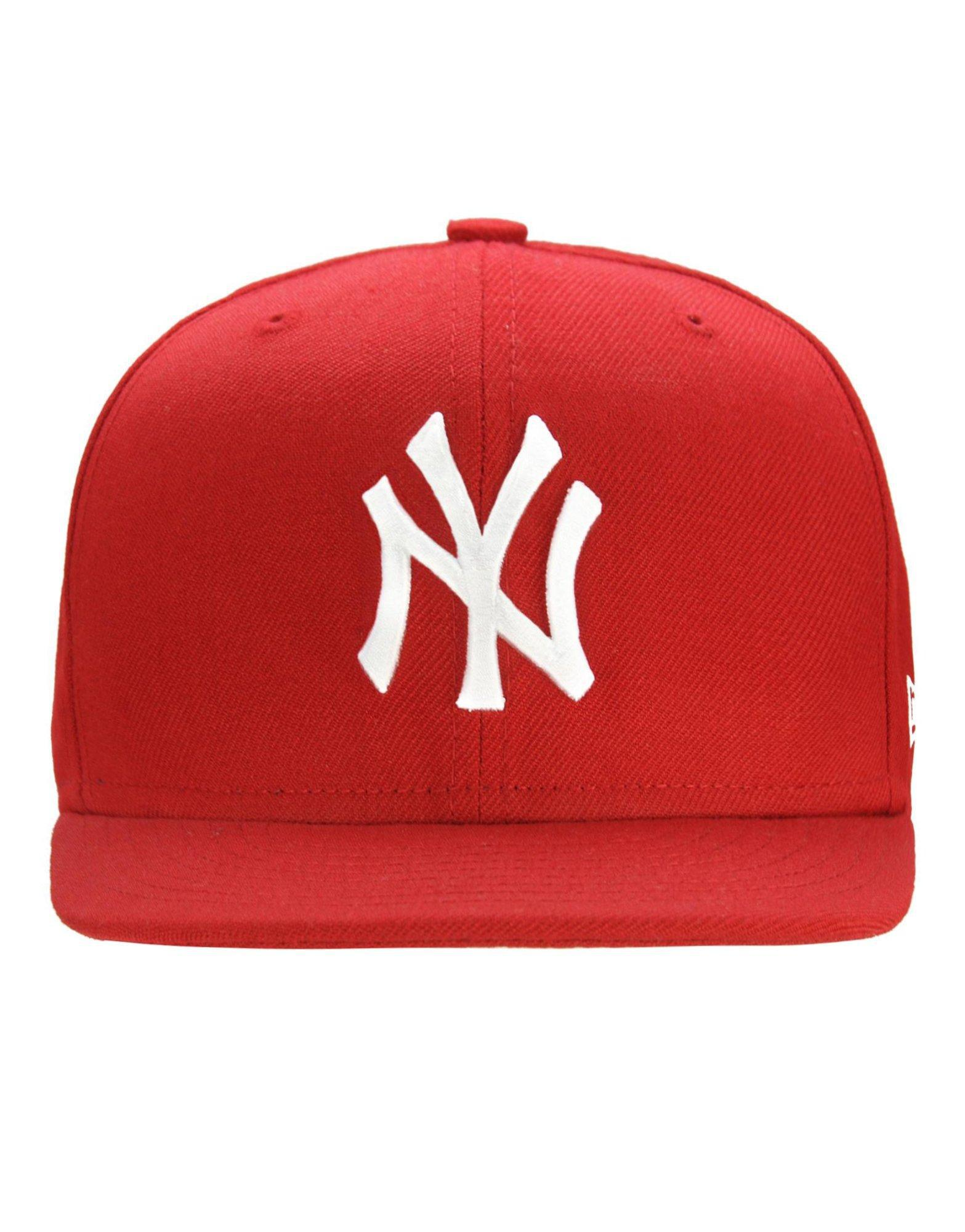 93720ffdad3b0 ... norway lyst ktz mlb new york yankees 59fifty fitted cap in red for men  e33f5 4bb8c