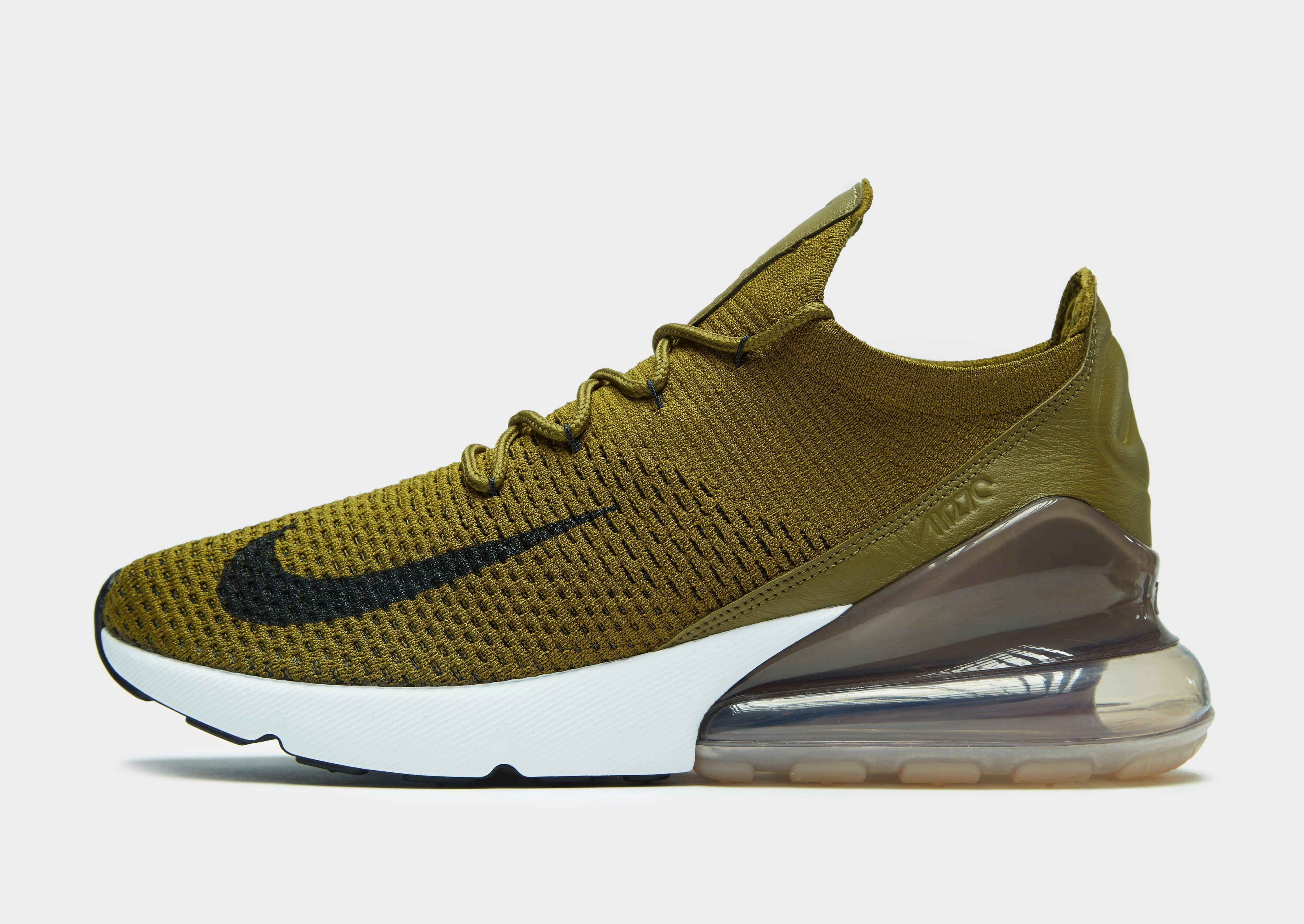 new concept 033a1 310c3 Nike Air Max 270 Flyknit in Green for Men - Lyst
