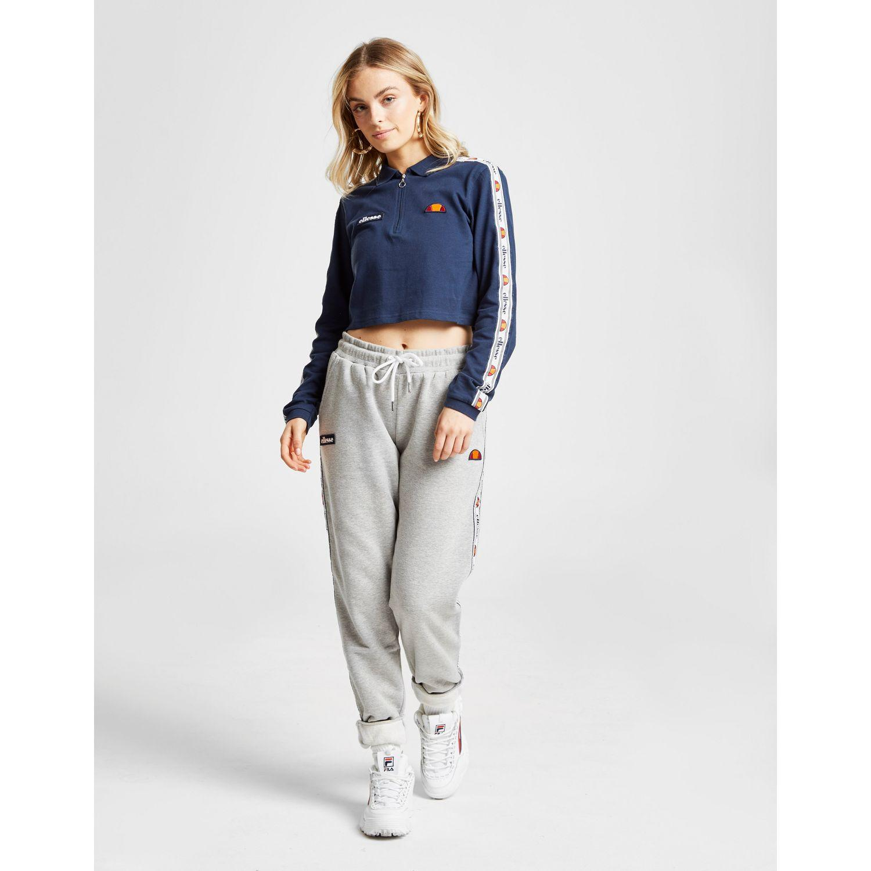 20f6a366844 Ellesse - Blue Tape Long Sleeve Crop Polo Shirt - Lyst. View fullscreen