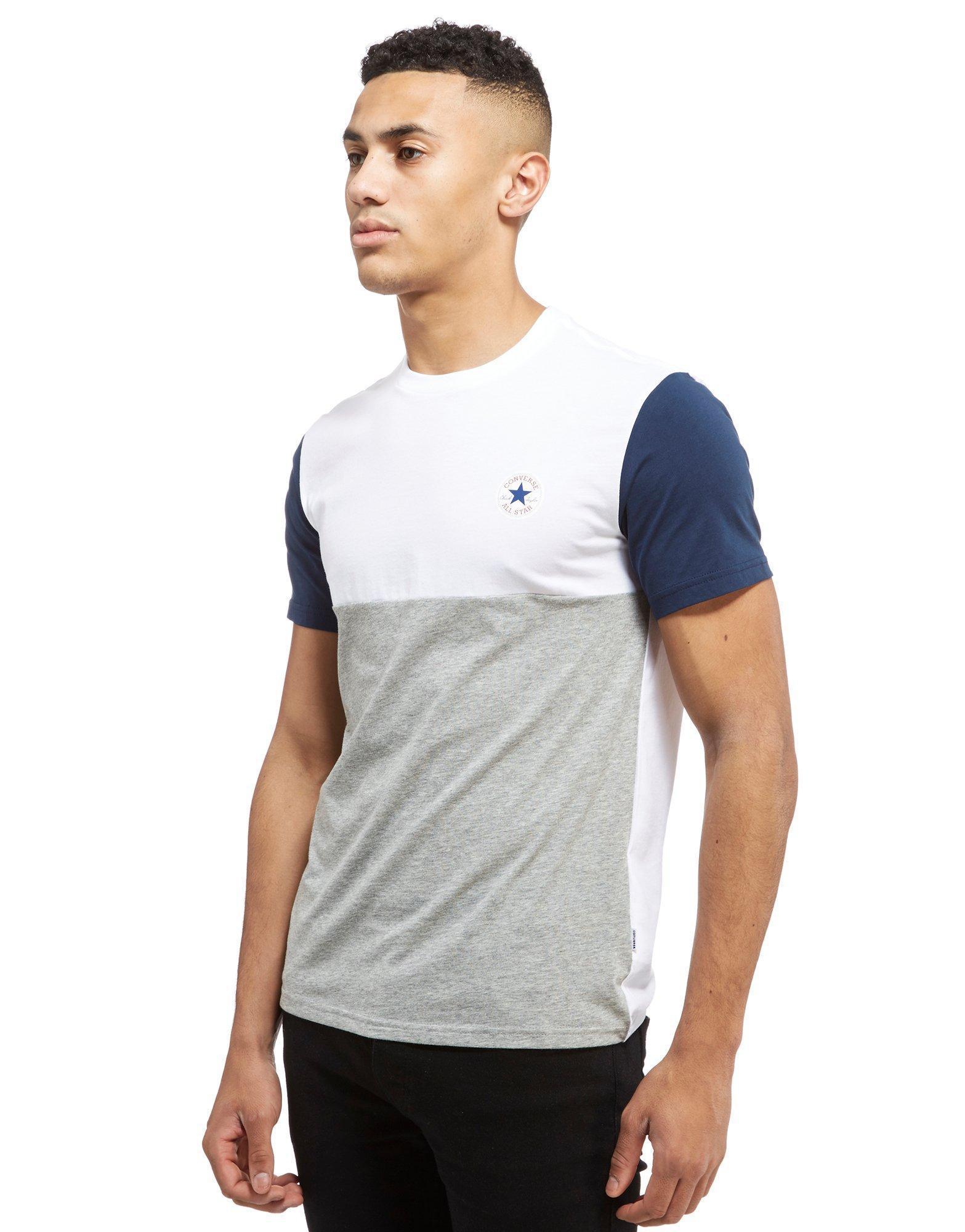 5031e8b79876 Converse Chuck Tri Colour Blend T-shirt for Men - Lyst