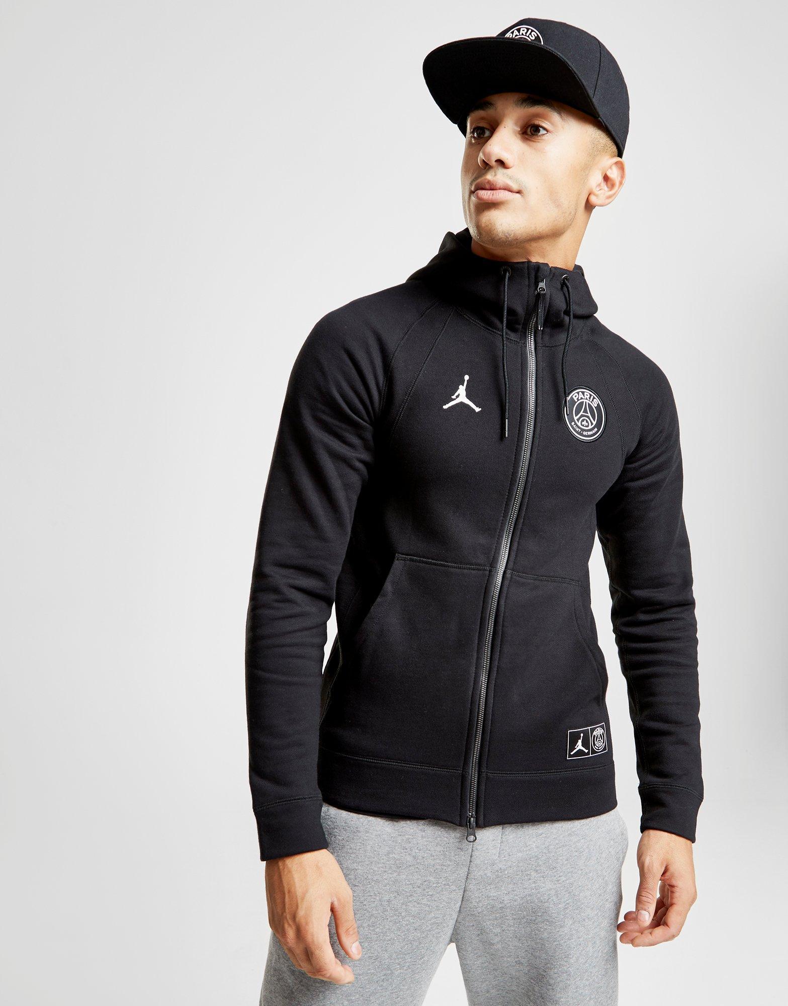 90dec981c09 Nike X Paris Saint Germain Wings Full Zip Hoodie in Black for Men - Lyst