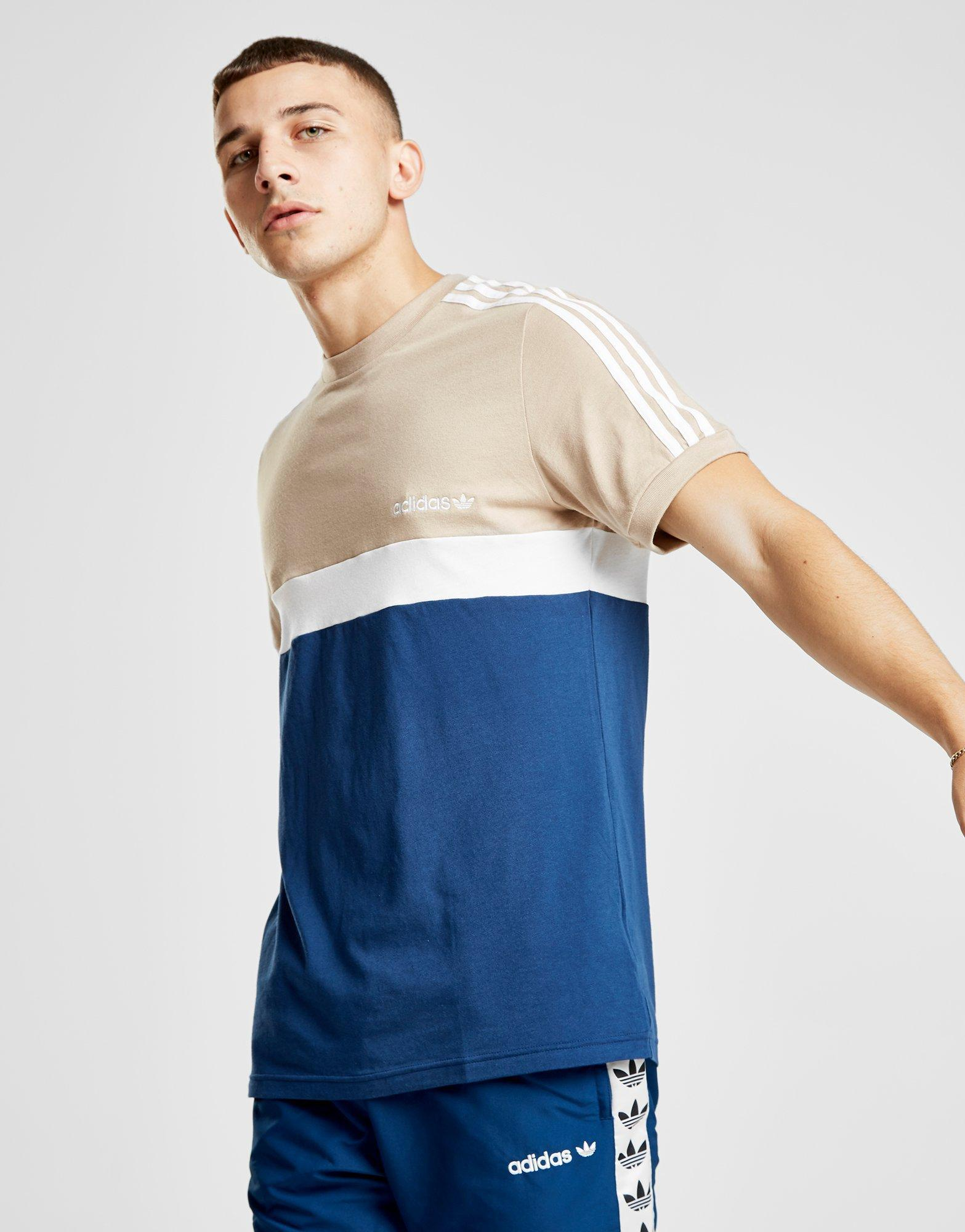 In For Block Lyst Men Adidas Shirt Colour Originals T Blue Itasca W7Tq6YnP8