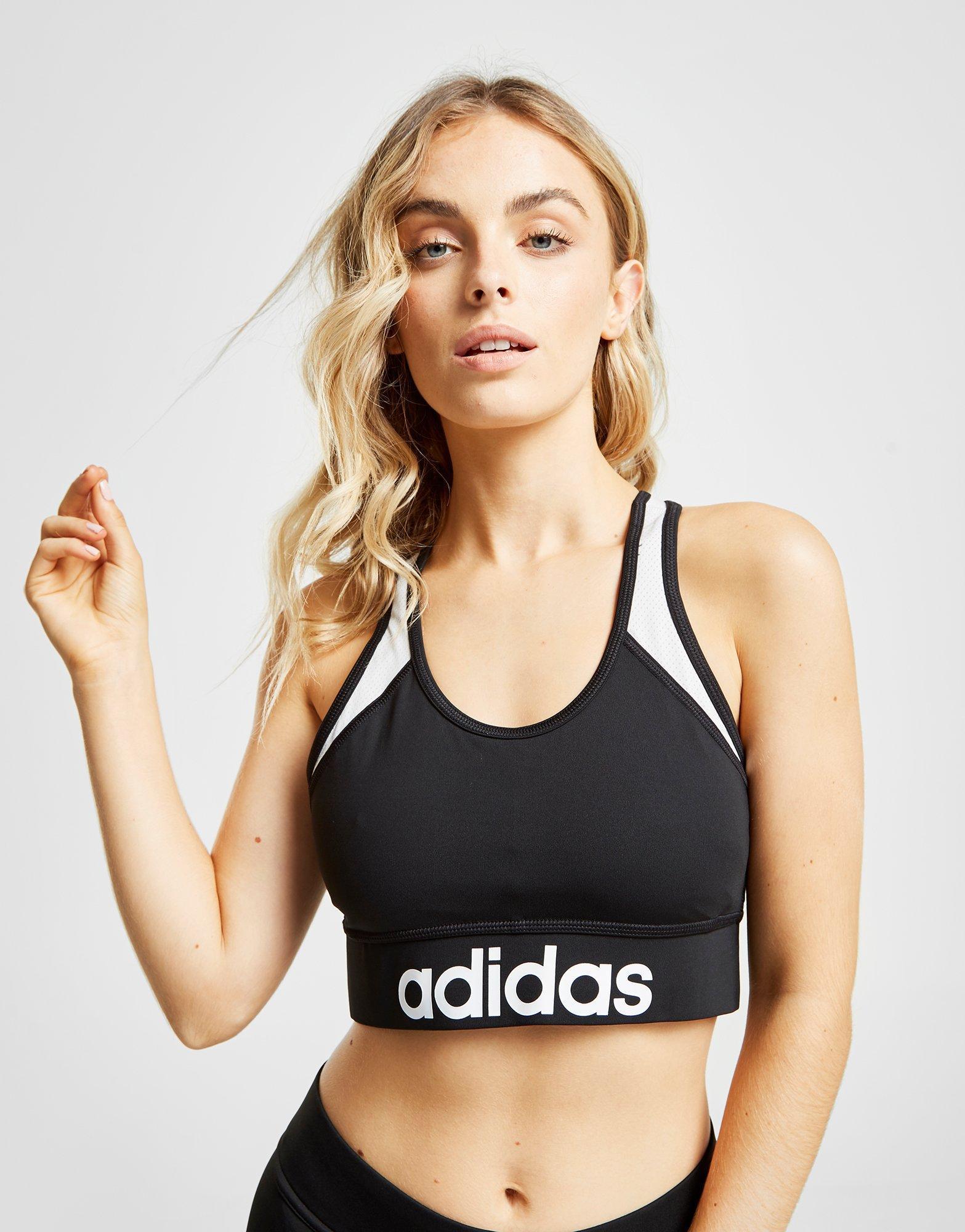 122e68d95d Adidas - Black Linear Sports Bra - Lyst. View fullscreen