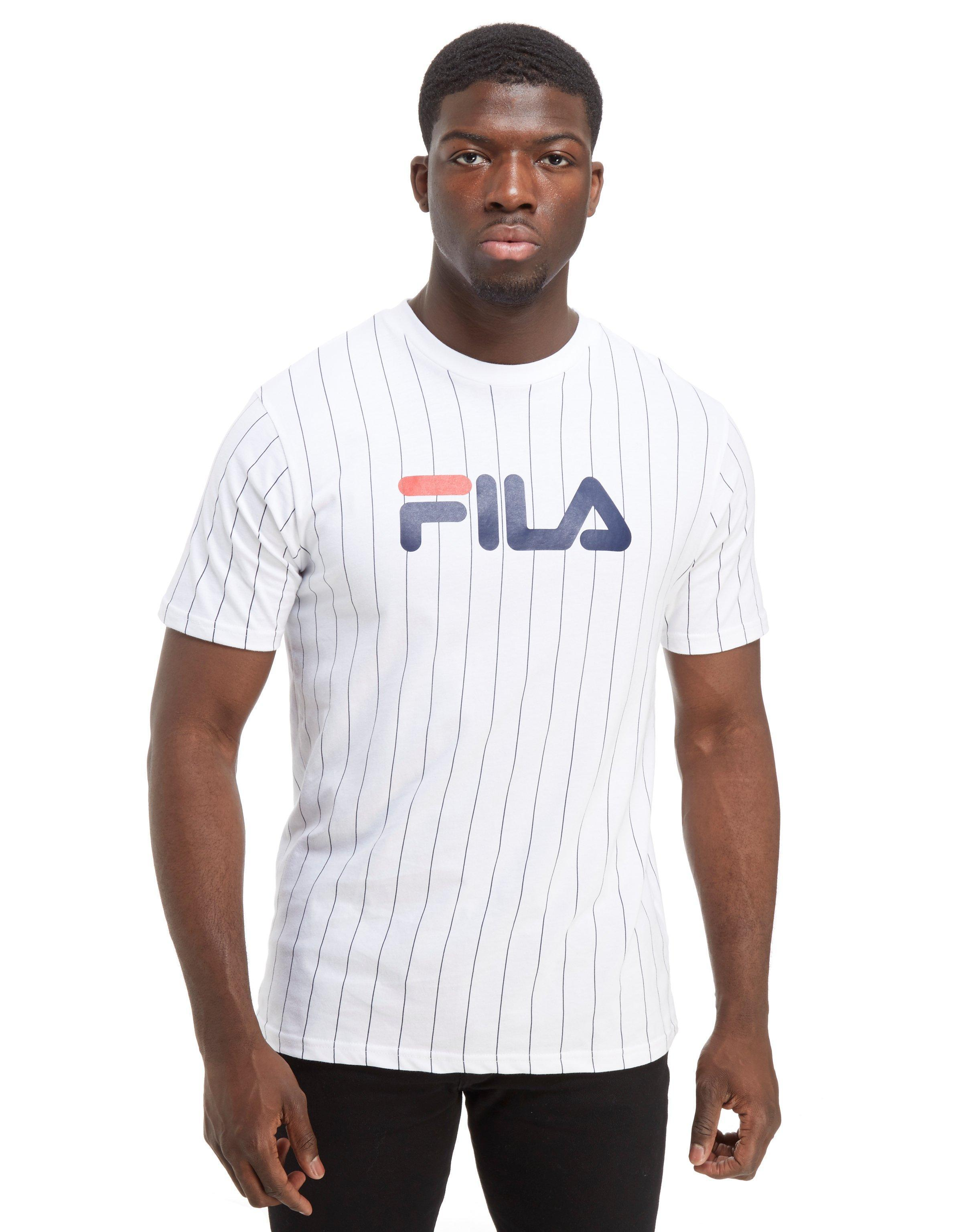 Gregor Stripe For Men Lyst Fila T Shirt In White zMVjLSUpGq