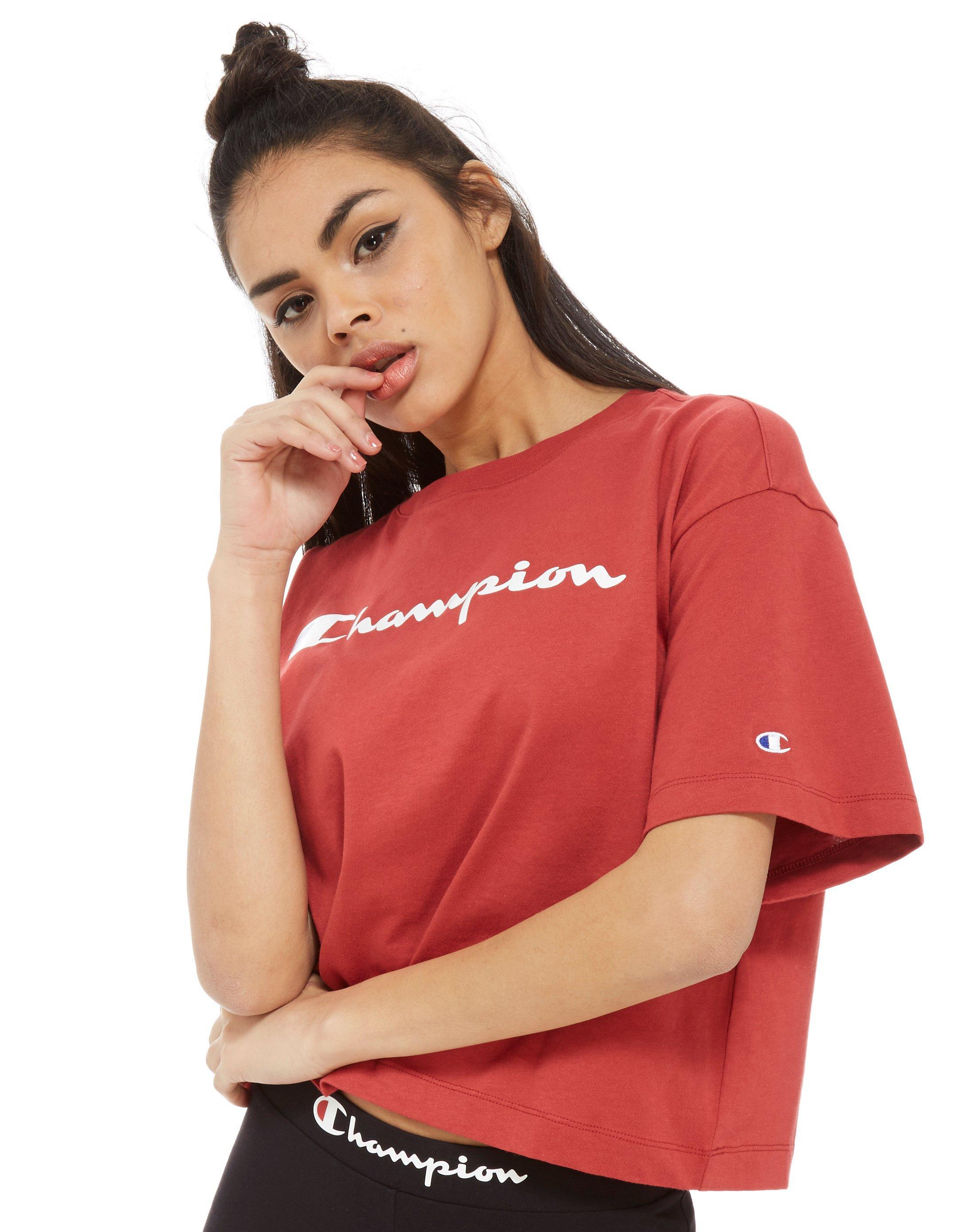 84f764dc6 Champion Boxy Logo T-shirt in Red - Lyst
