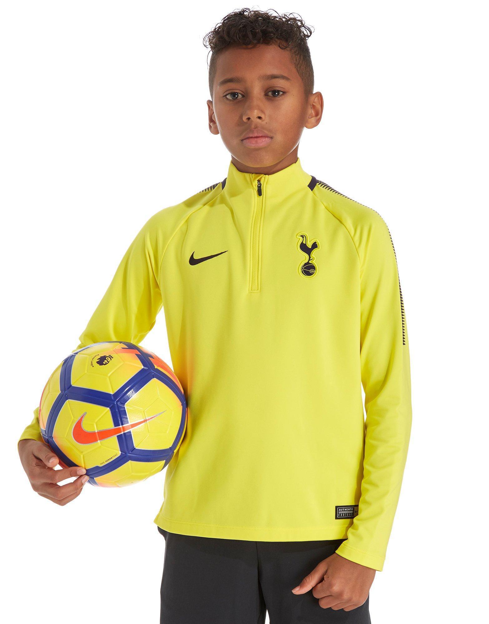 5d7fd6c64e4 Nike Tottenham Hotspur 2017 Squad Drill Top Junior in Yellow for Men ...
