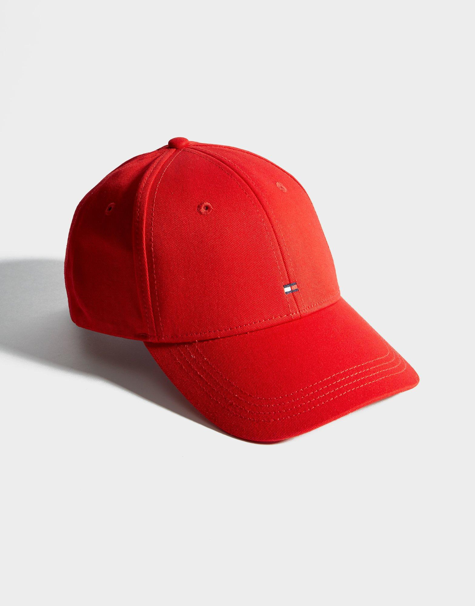 Tommy Hilfiger Classic Flag Cap in Red - Lyst 32268d7b21ed