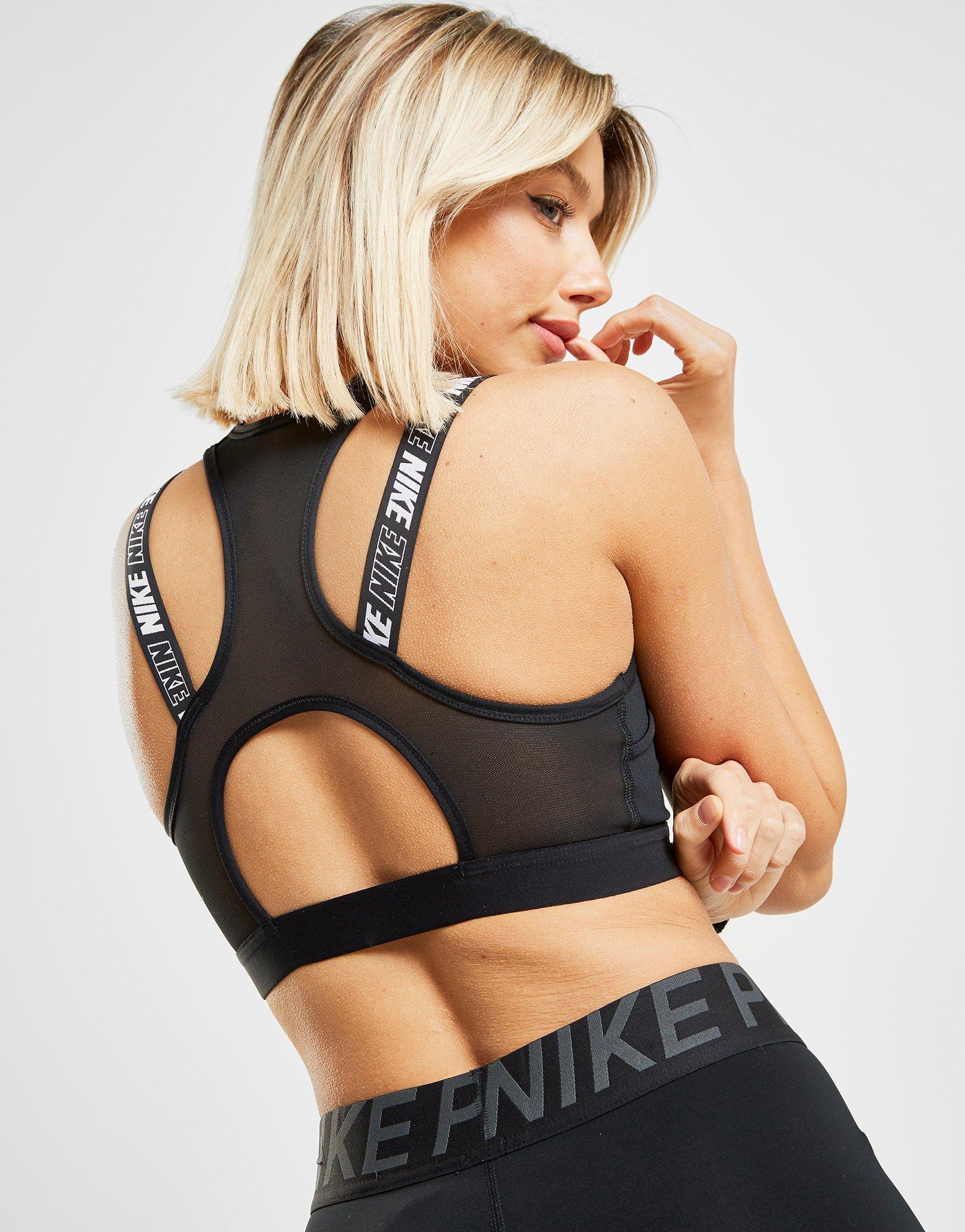 4b79a781792cf Nike Training Victory Hybrid Sports Bra in Black - Lyst