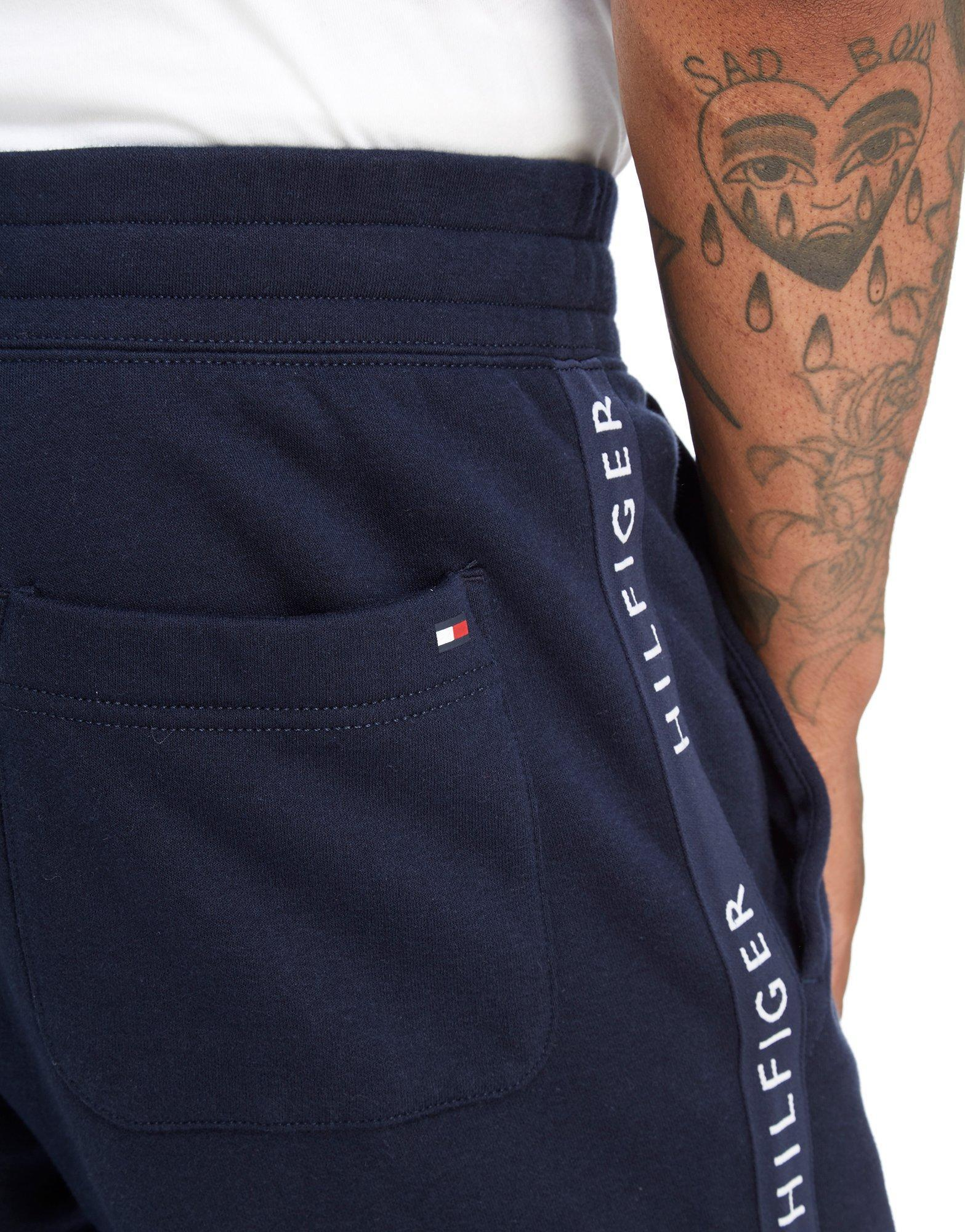 b042f25f2 Tommy Hilfiger Side Tape Fleece Pants in Blue for Men - Lyst