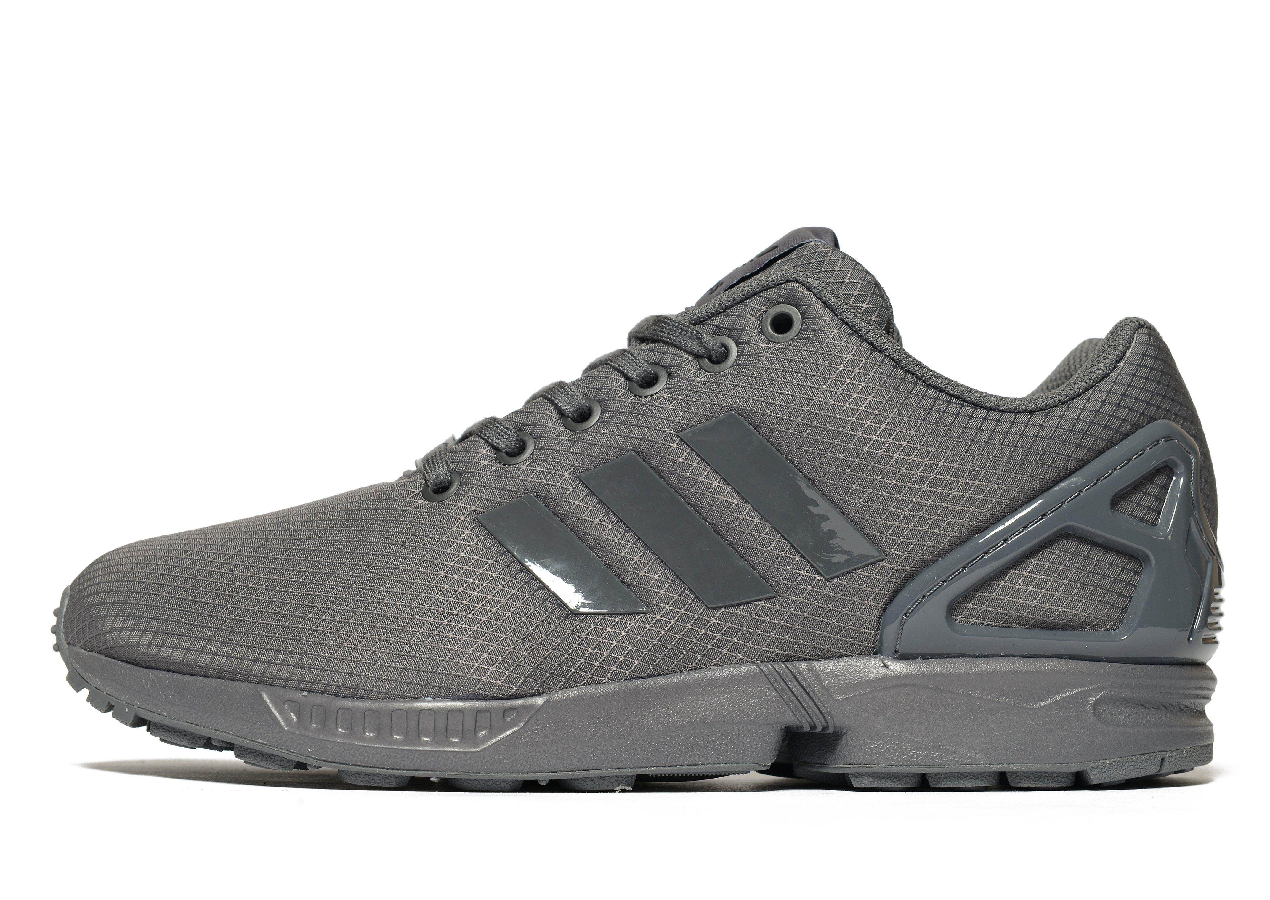 lyst adidas originals zx flux ripstop in gray for men. Black Bedroom Furniture Sets. Home Design Ideas