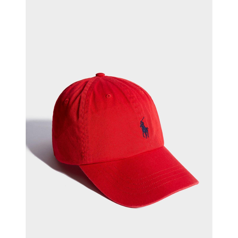 Polo Ralph Lauren - Red Classic Cap for Men - Lyst. View fullscreen 28ae6e75daf7