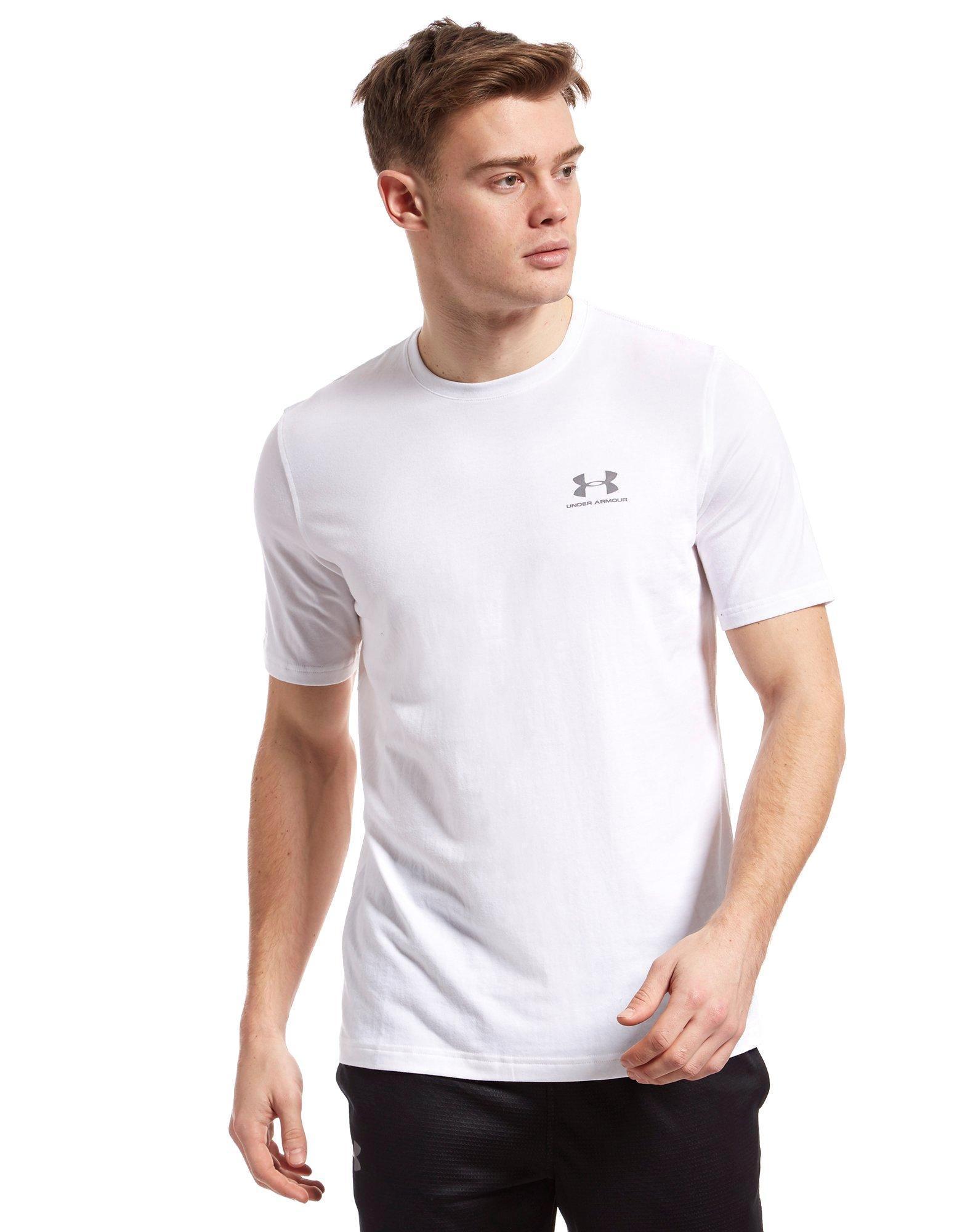 9034bec2 Under Armour Sportstyle Left Chest Logo T-shirt in White for Men - Lyst