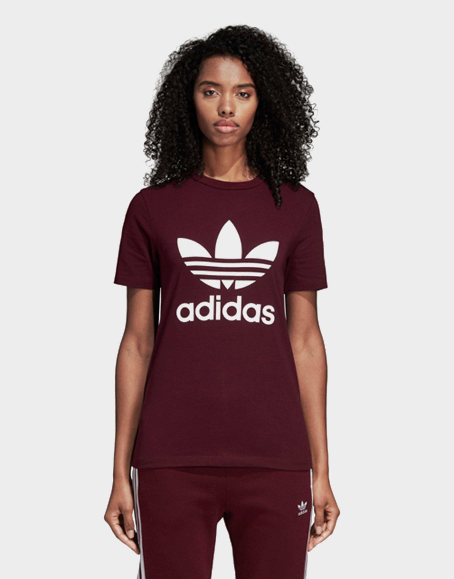 e79d13f1c94 Adidas - Red Trefoil Tee - Lyst. View fullscreen