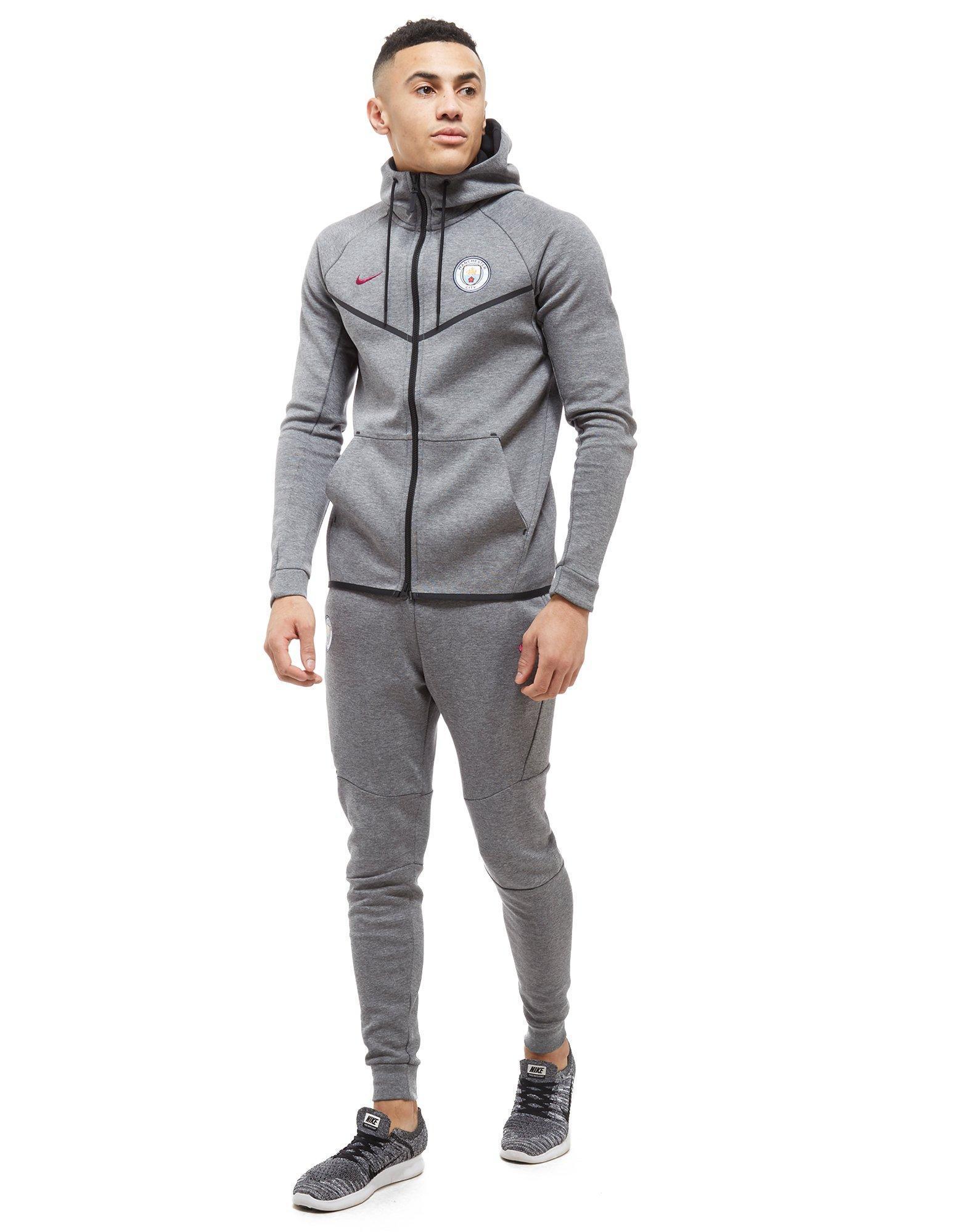 Lyst - Nike Manchester City Fc Tech Fleece Hoodie in Gray for Men a0b2b416303d