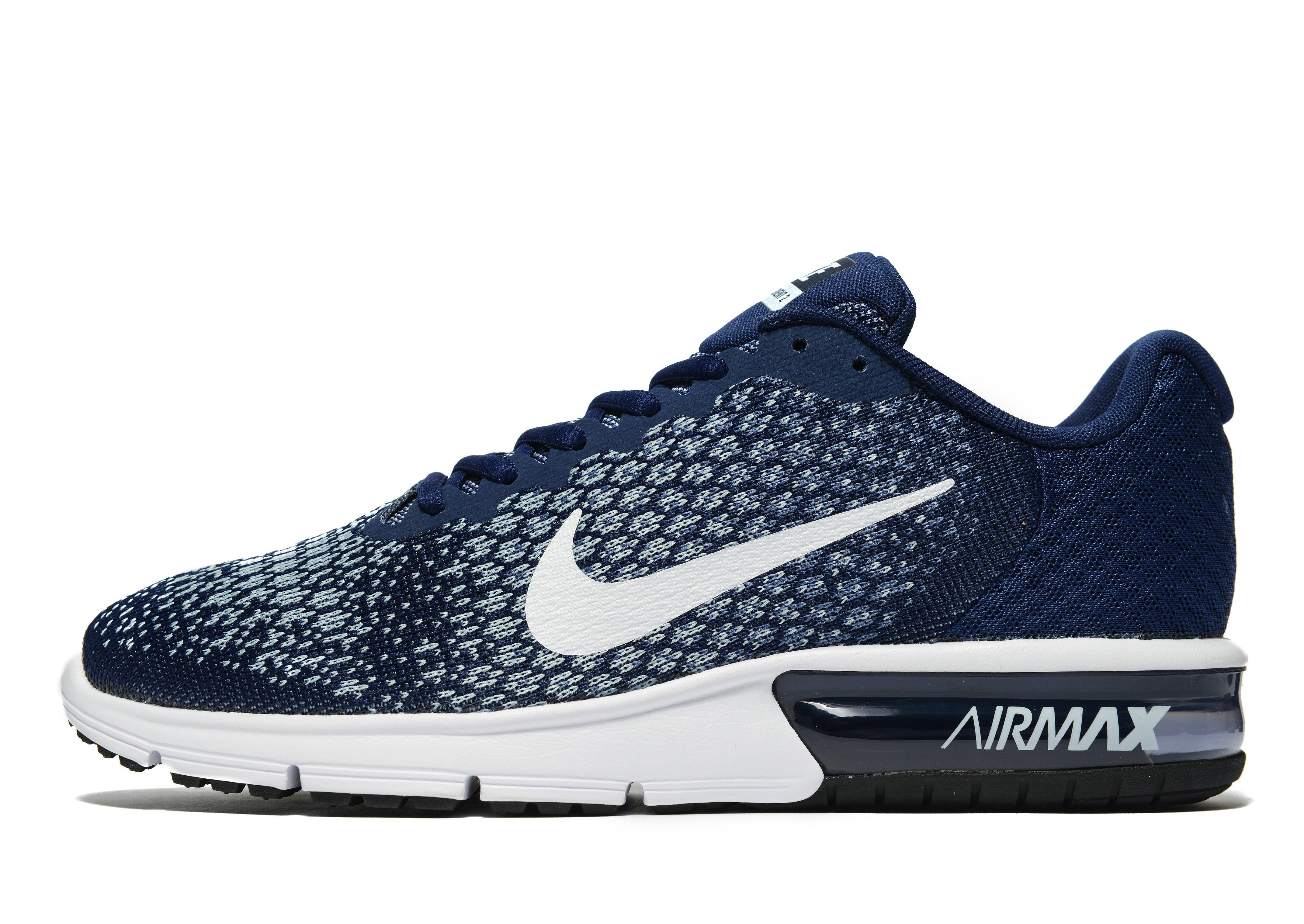 nike air max sequent 2 in blue for men lyst. Black Bedroom Furniture Sets. Home Design Ideas