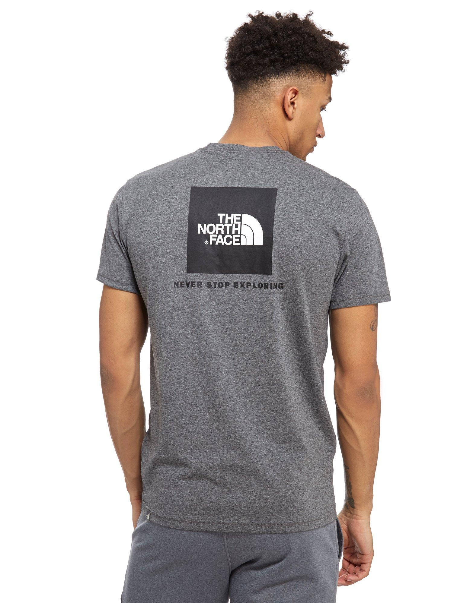 lyst the north face redbox t shirt in gray for men. Black Bedroom Furniture Sets. Home Design Ideas