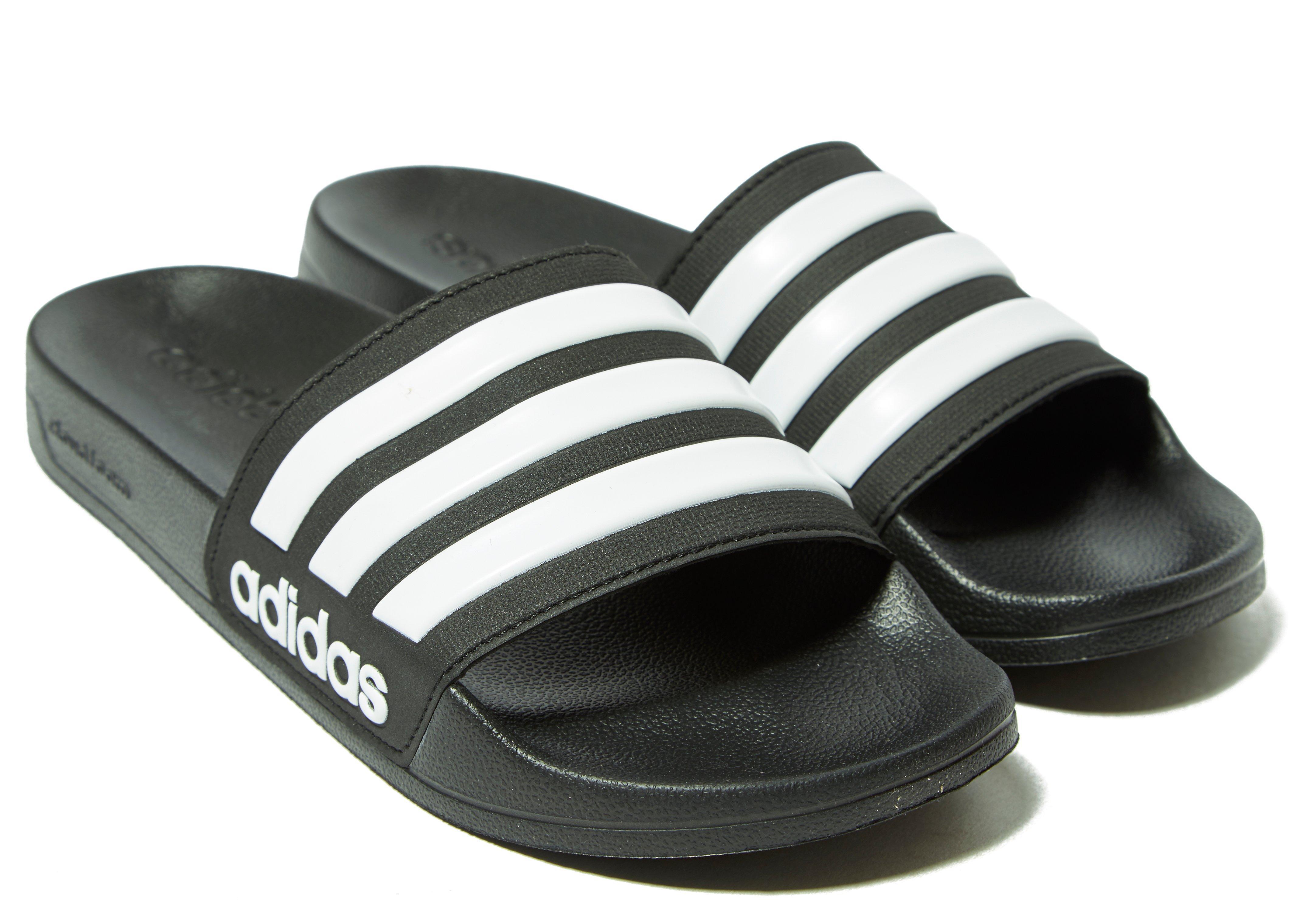 Lyst - Adidas Cloudfoam Adilette Slides in Black 7aac738f2
