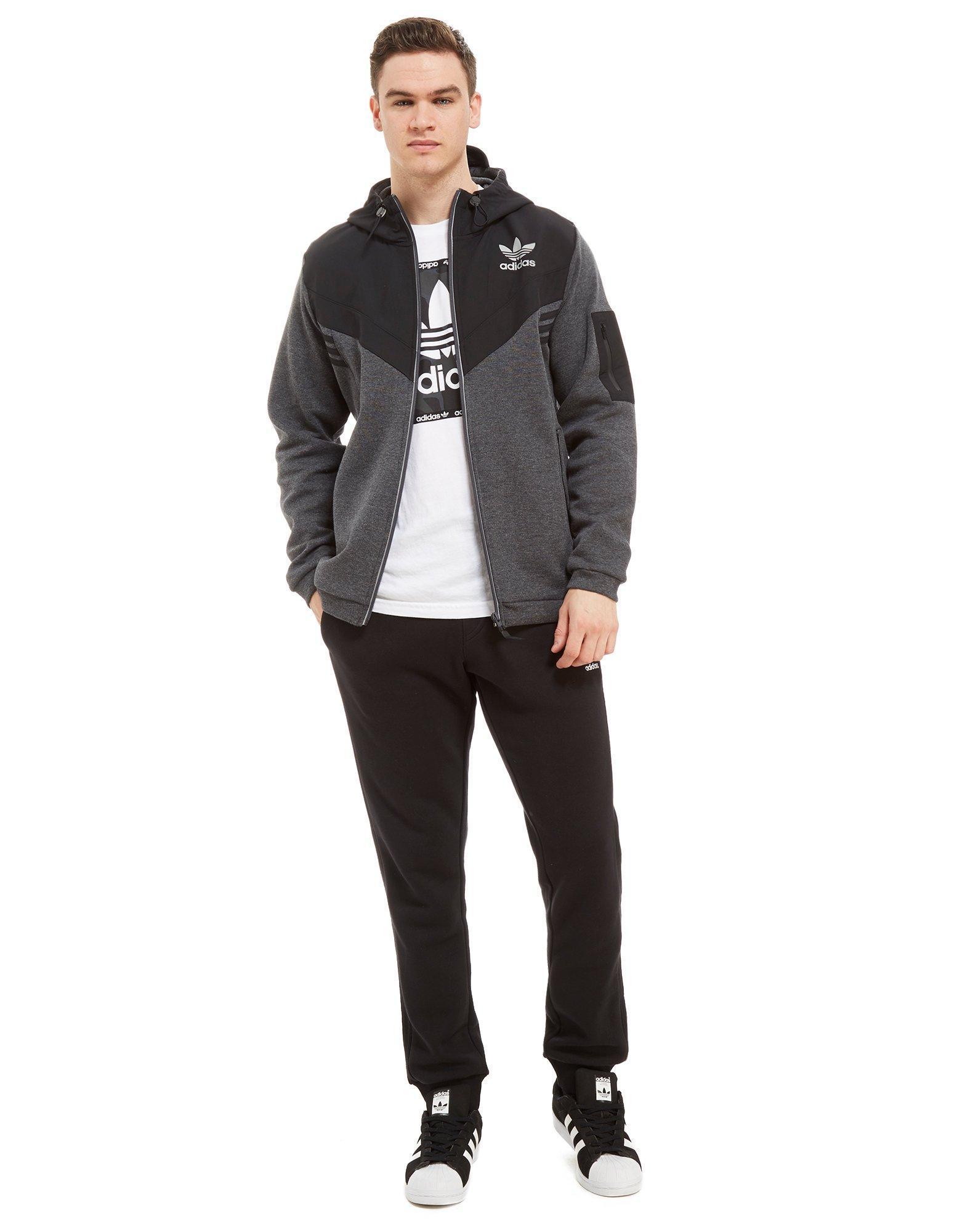 2541eec31d Lyst - adidas Originals Street Run Woven Hoodie in Black for Men