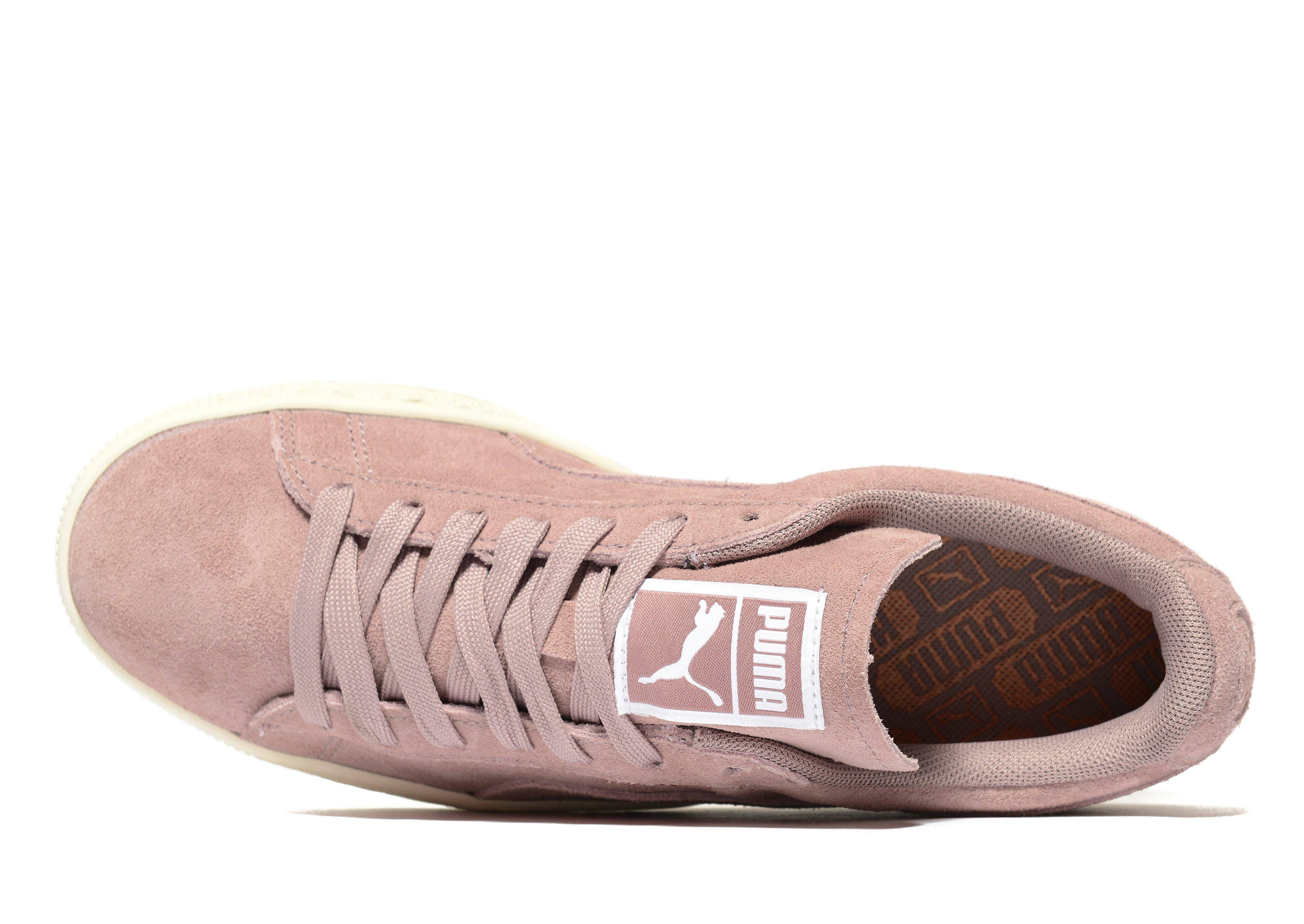 Lyst - Puma Basket Platform Core Trainers in Pink 57149ab89