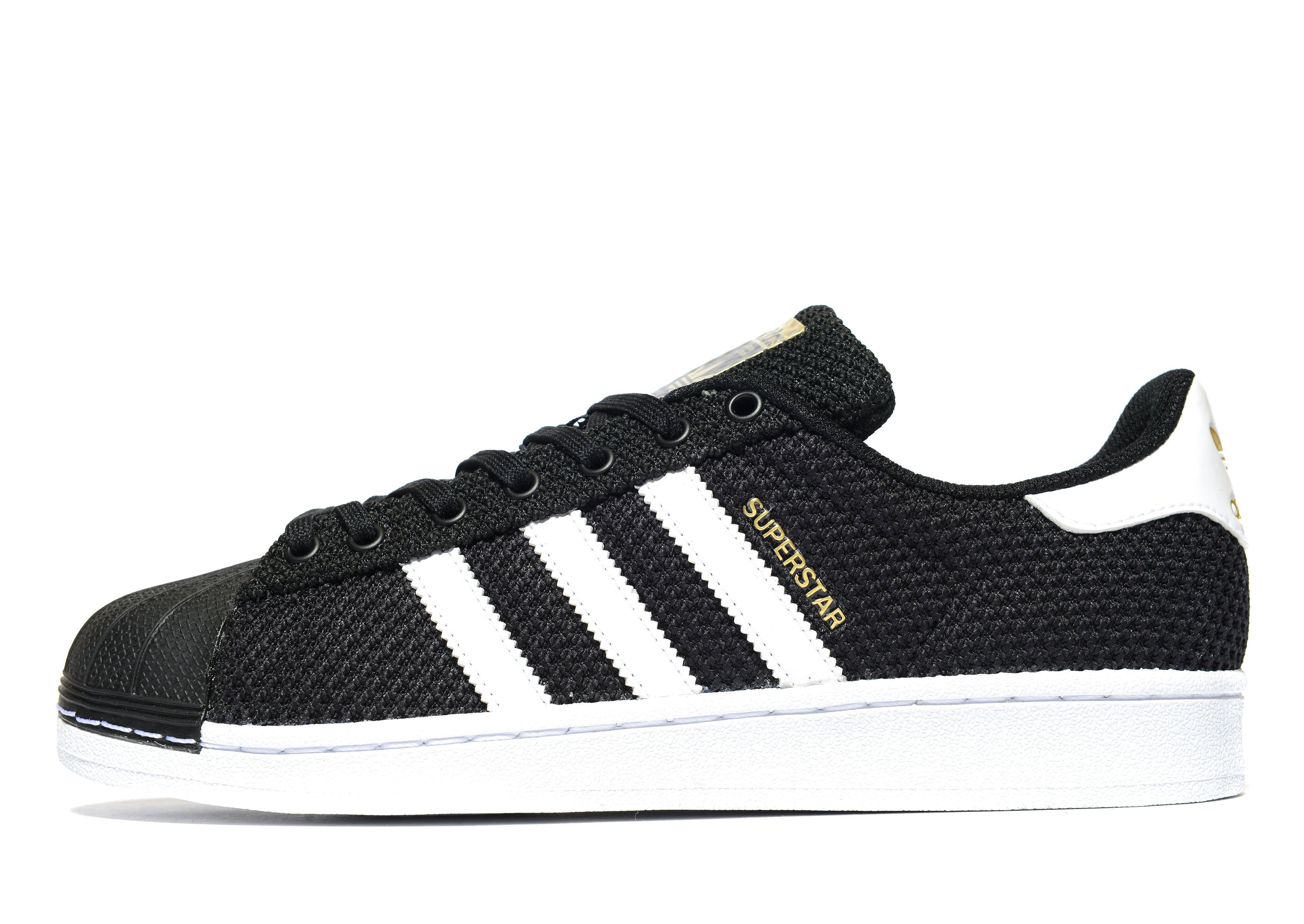 save off 9feac 2e30c Adidas Originals Superstar Knit in Black for Men - Lyst