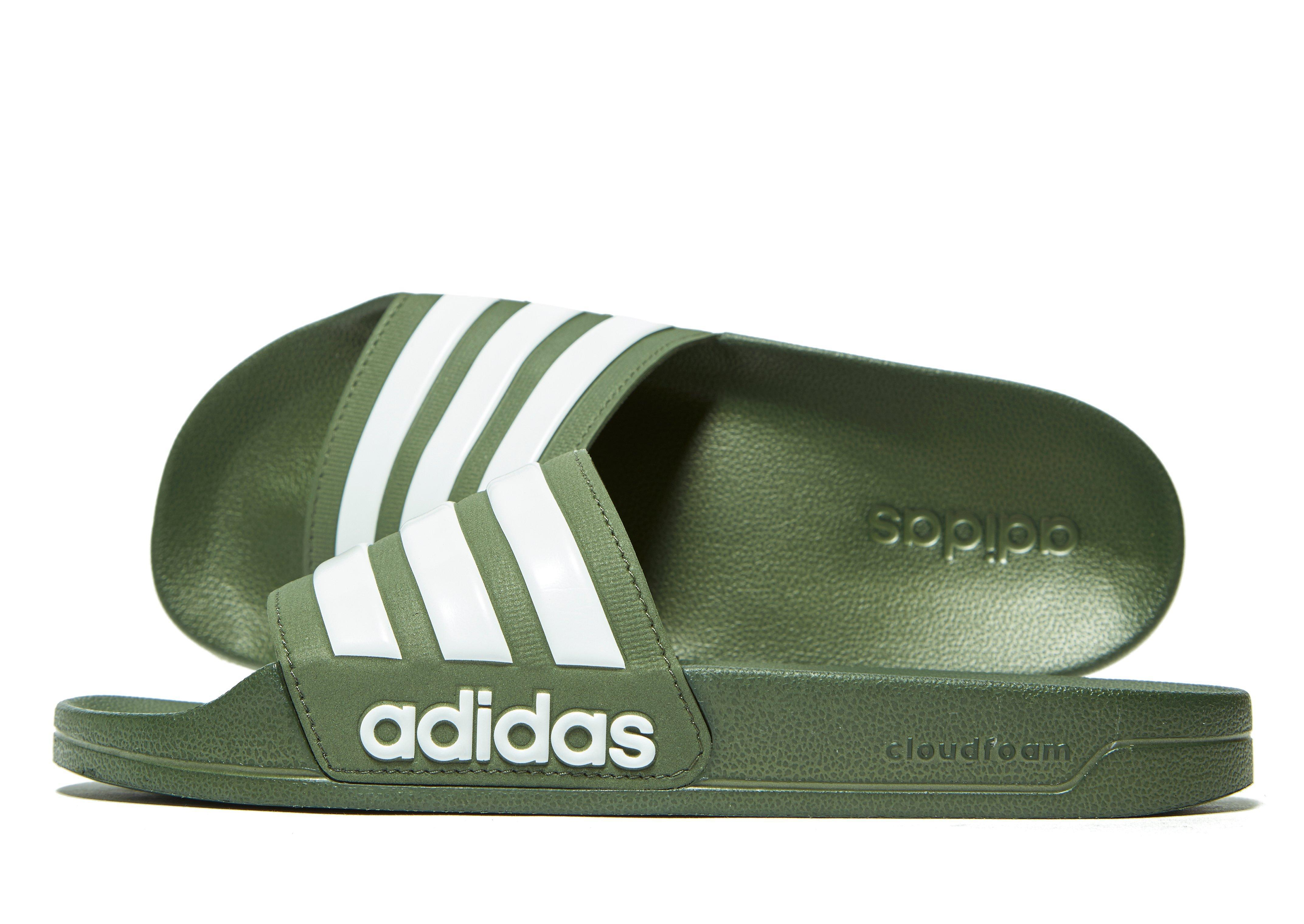 aa1f278a908b03 Lyst - adidas Cloudfoam Adilette Slides in Green for Men