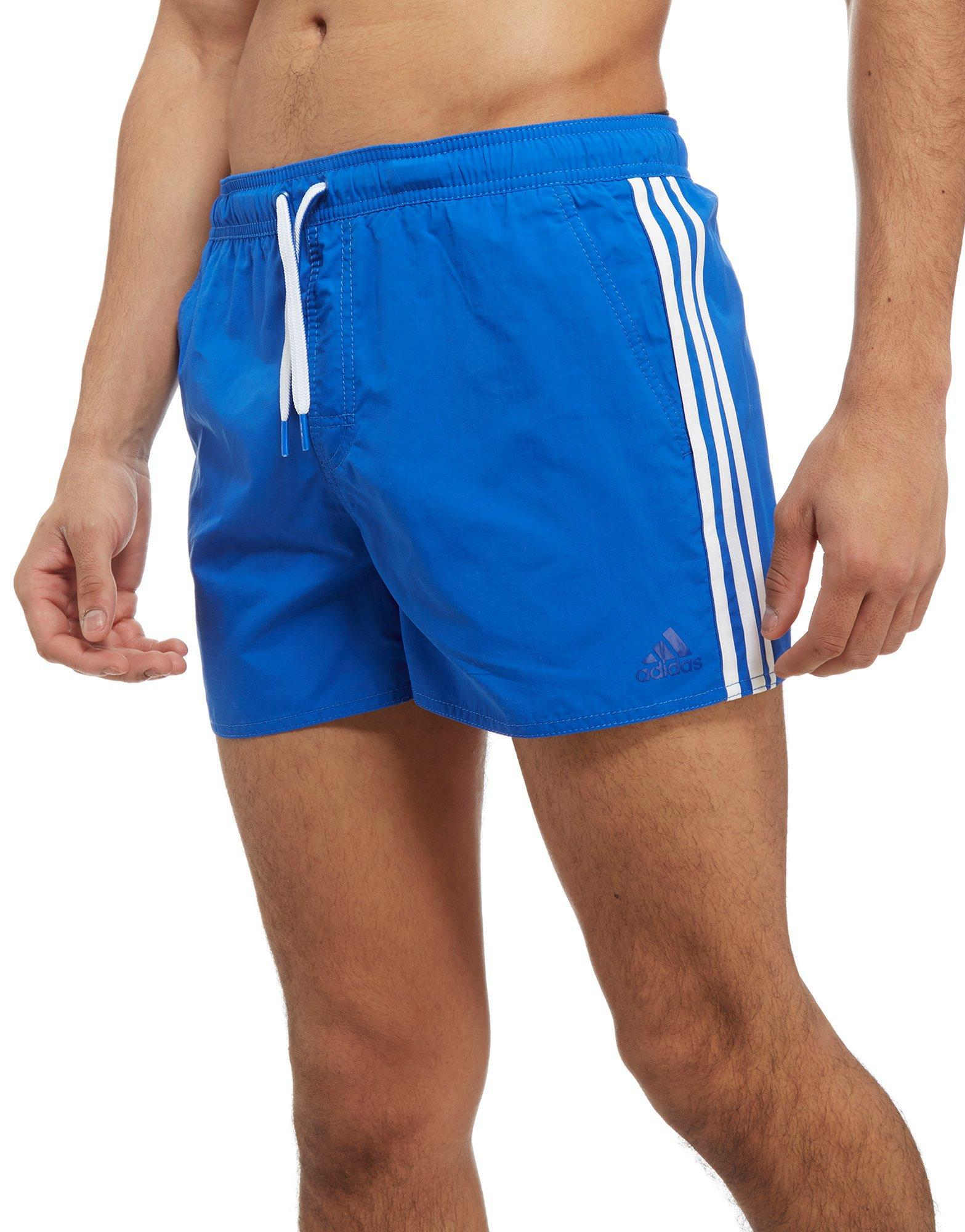 d557723b2b adidas 3-stripes Swim Shorts in Blue for Men - Lyst
