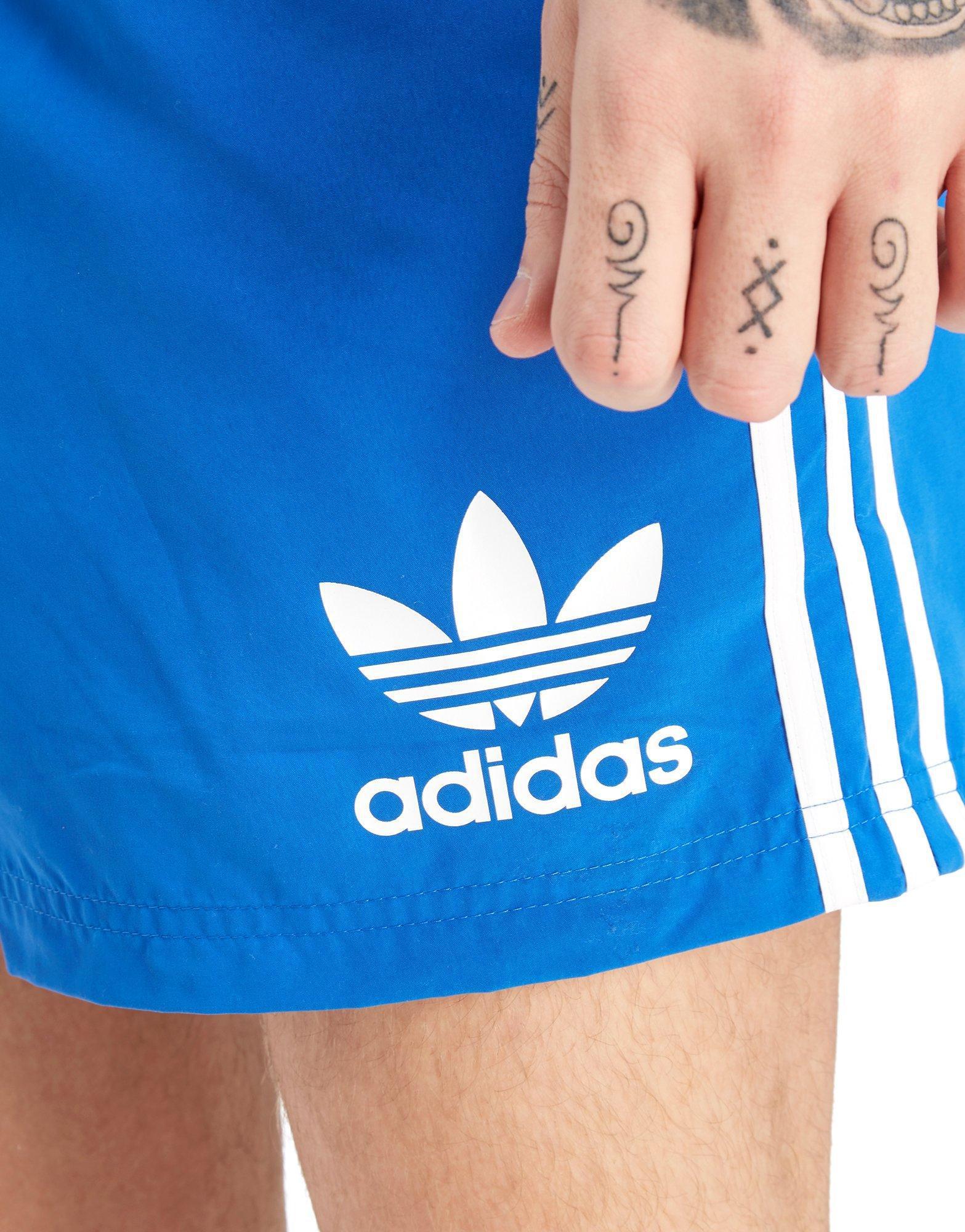 85efdac7db adidas Originals California Swimshorts in Blue for Men - Lyst